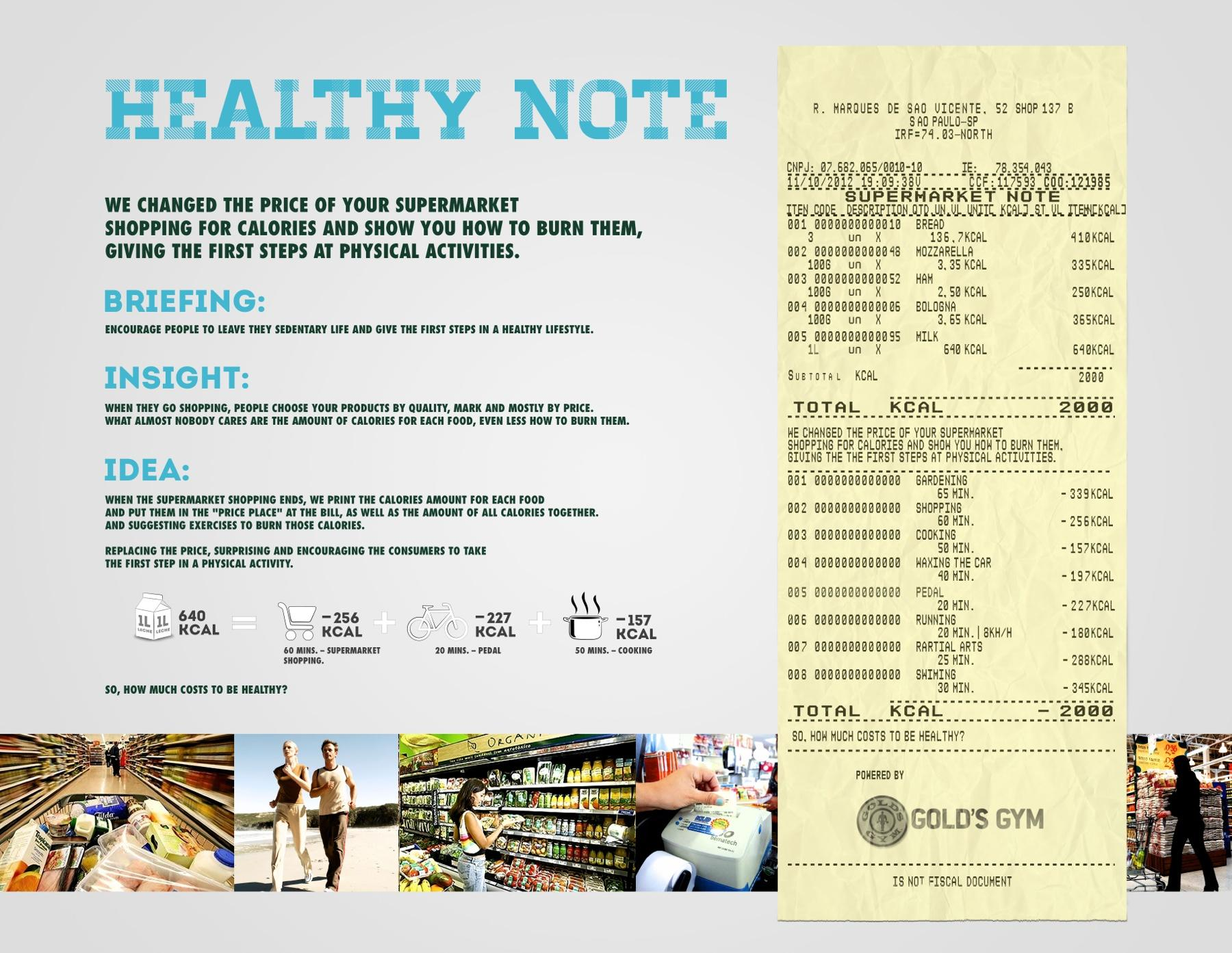Gold's Gym Direct Ad -  Health Note