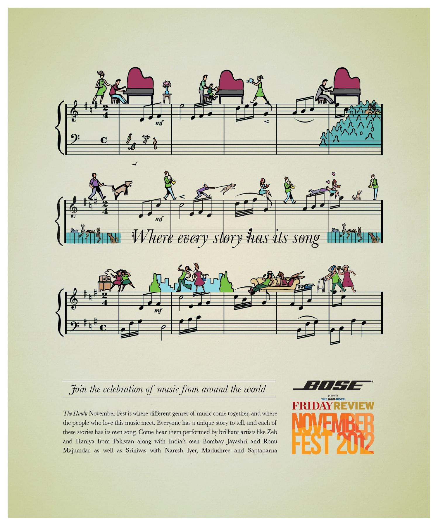 The Hindu Print Ad -  November Fest, Where every story has its song