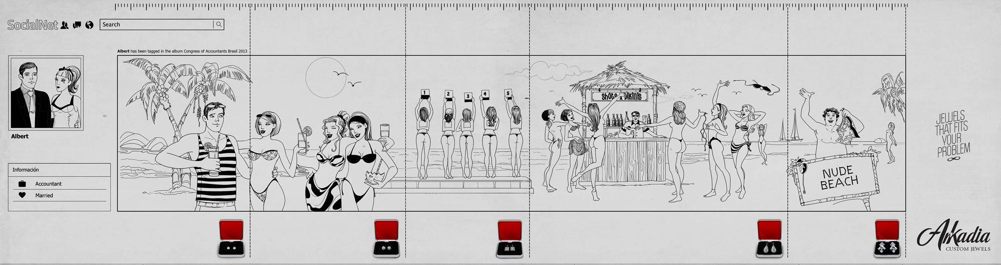 Arkadia Print Ad -  Nude beach