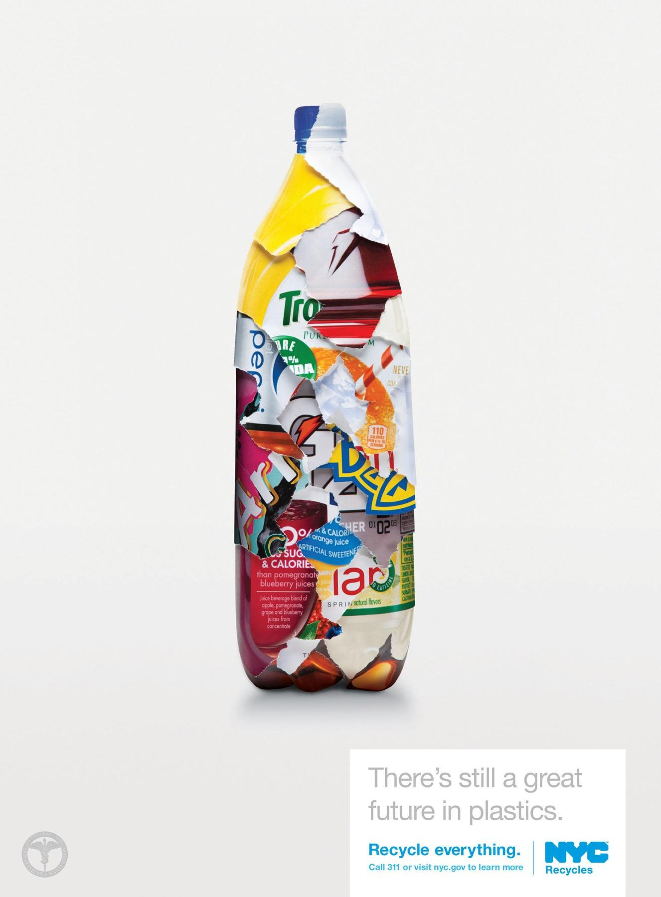 NYC Recycles Print Ad -  Bottle
