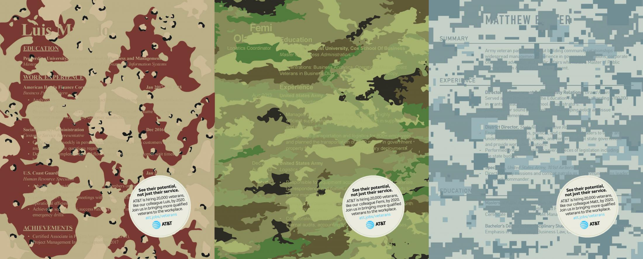 AT&T: Camouflage Resume