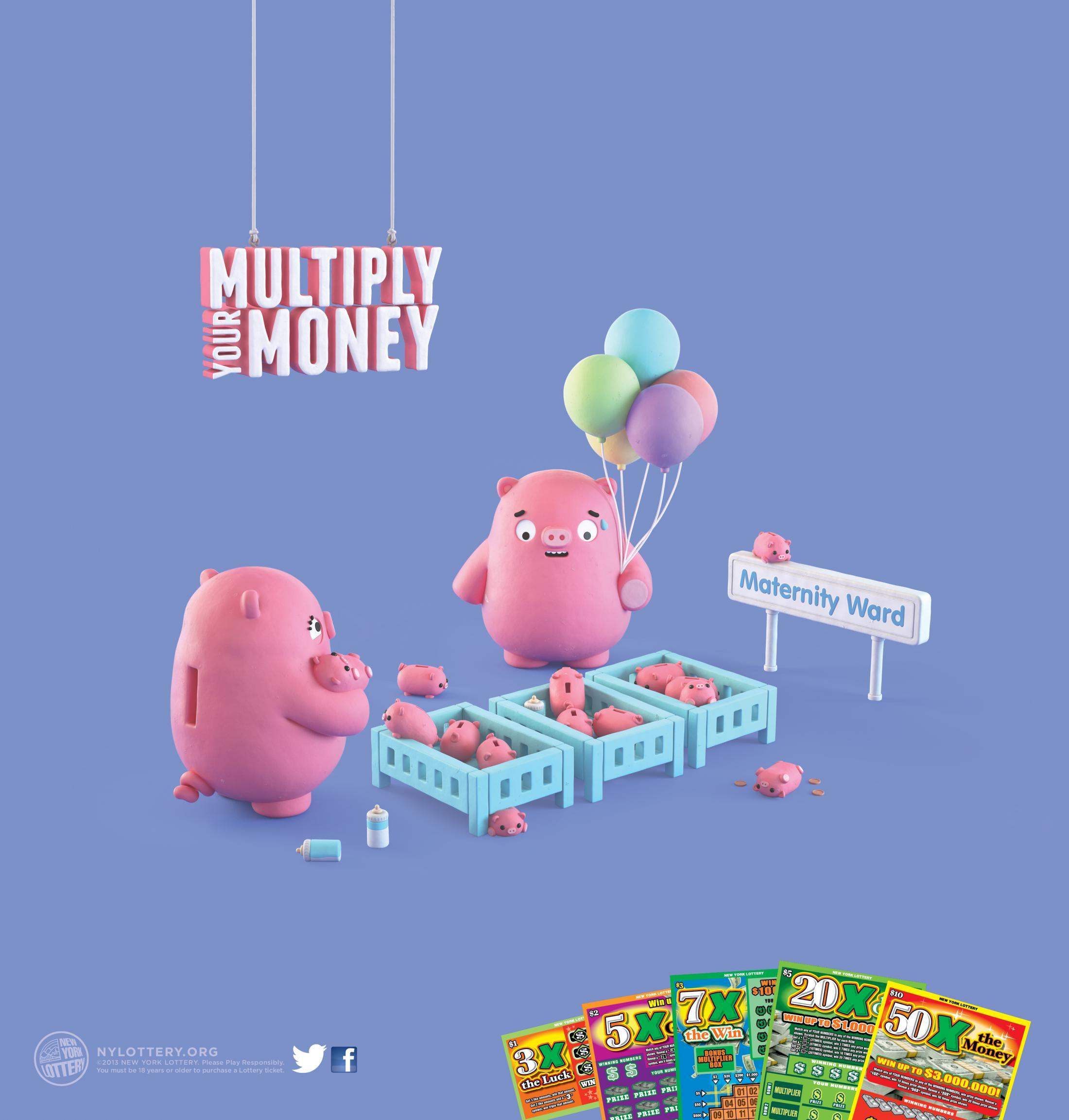 New York Lottery Print Ad -  Maternity Ward