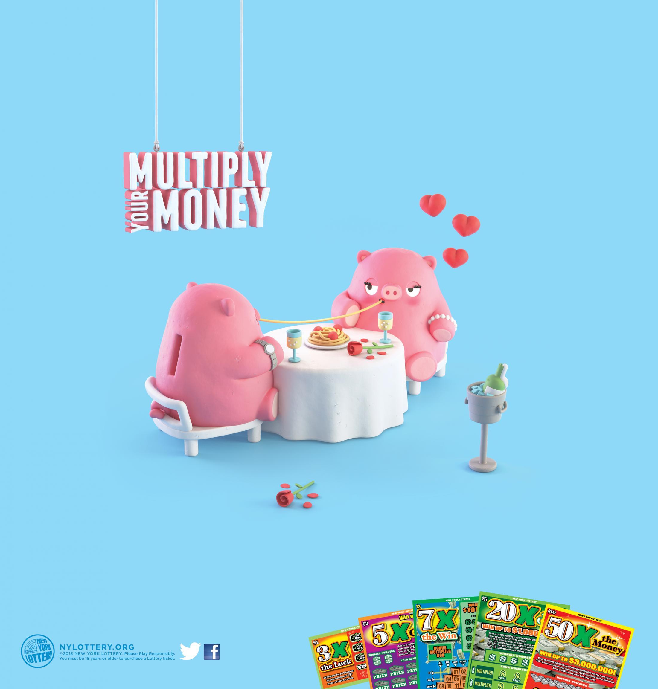 New York Lottery Print Ad -  Romantic Dinner