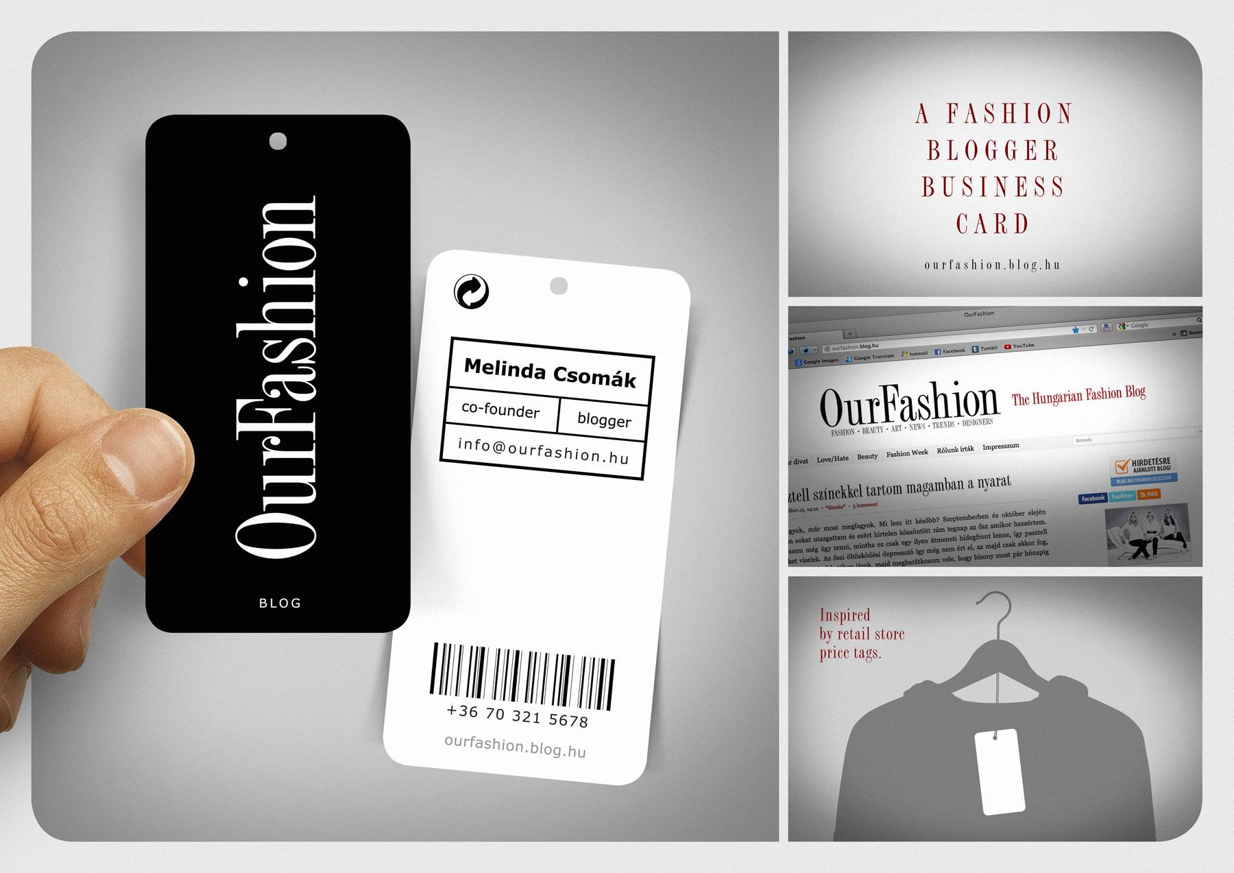 OurFashionBlog Direct Ad -  Business Card