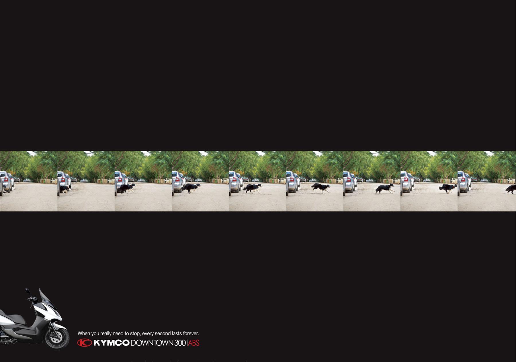 Kymco Print Ad -  Dog
