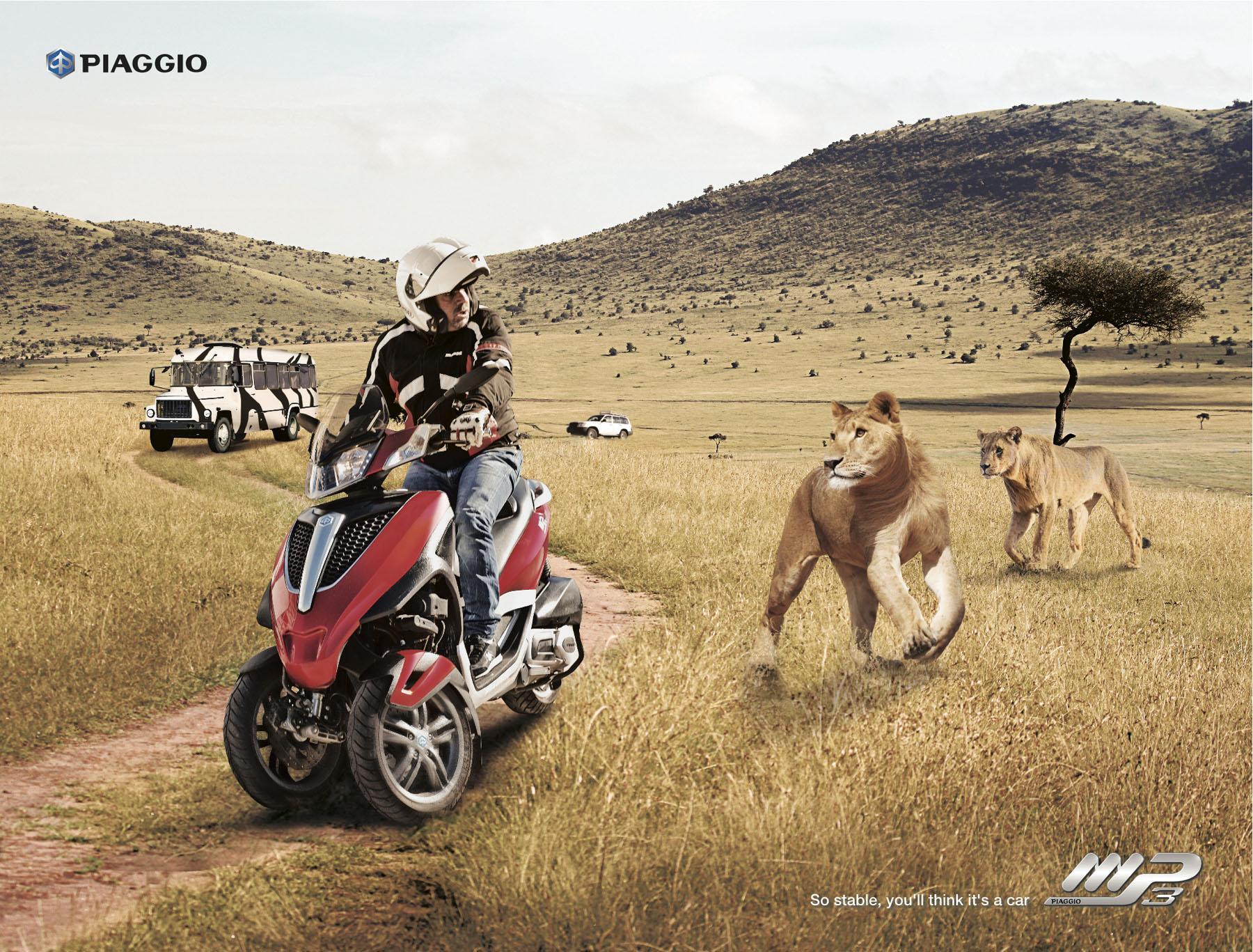 Piaggio Print Ad -  Lions