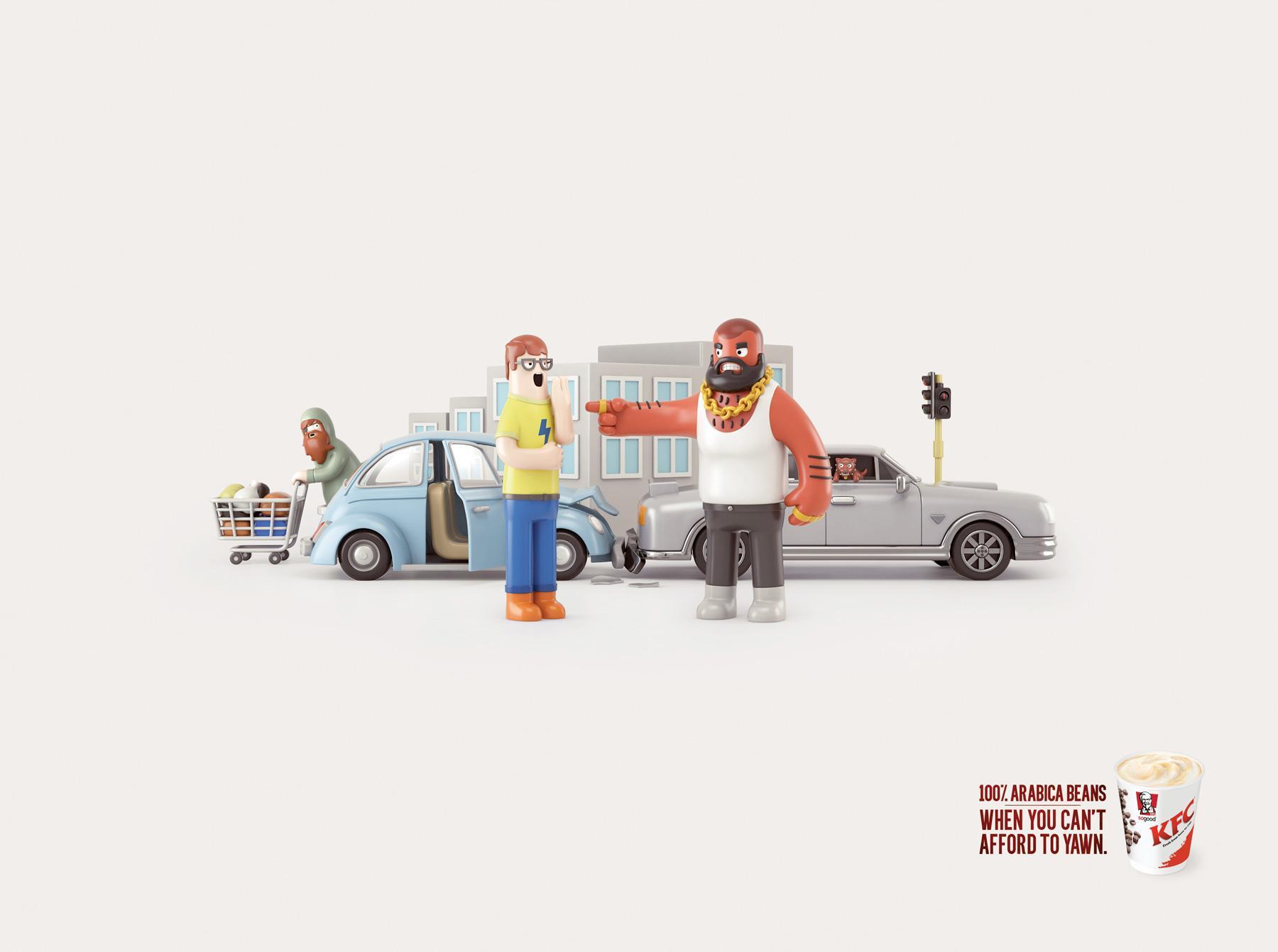 KFC Print Ad -  Bumper basher