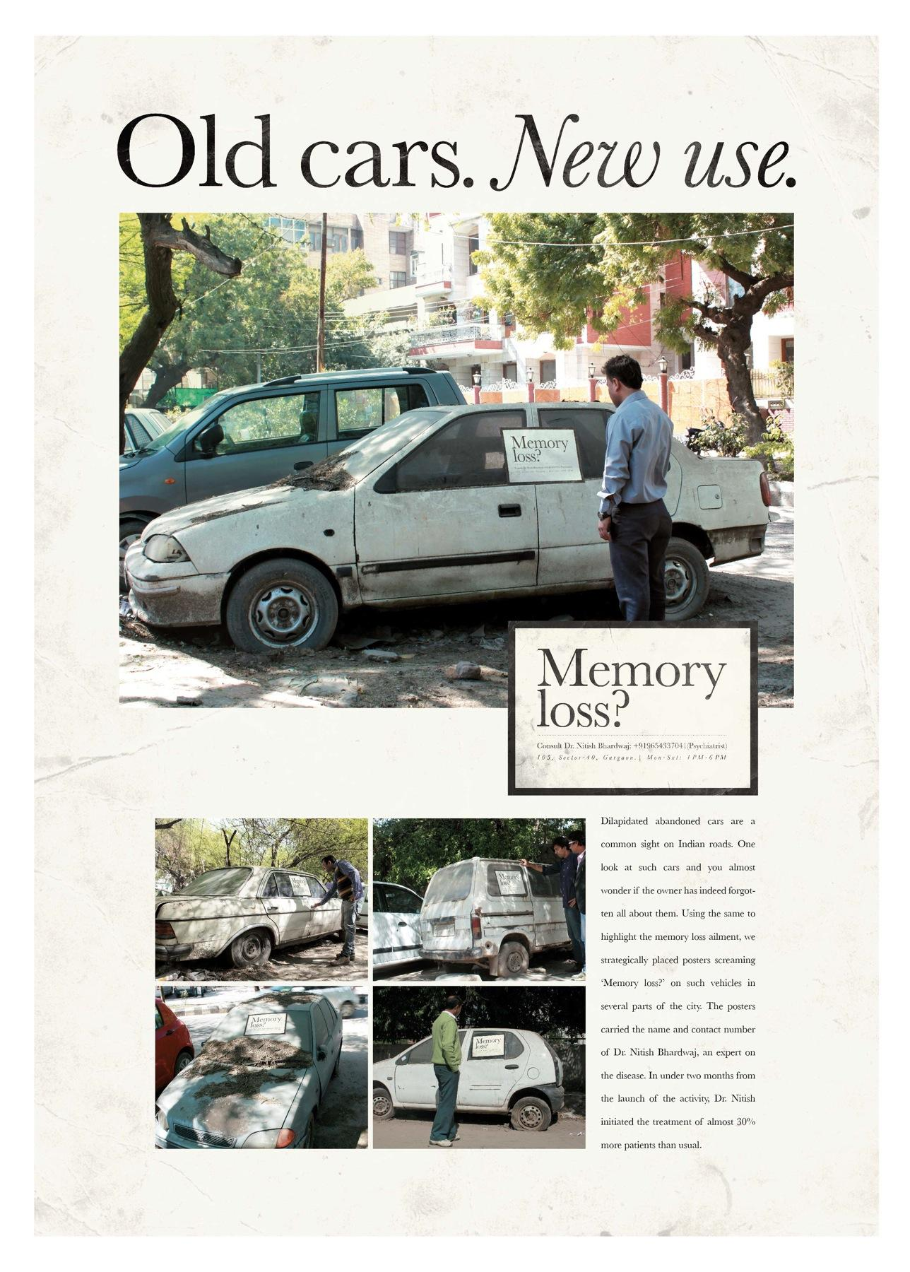 Dr. Nitish Bhardwaj Ambient Ad -  Old cars, new use