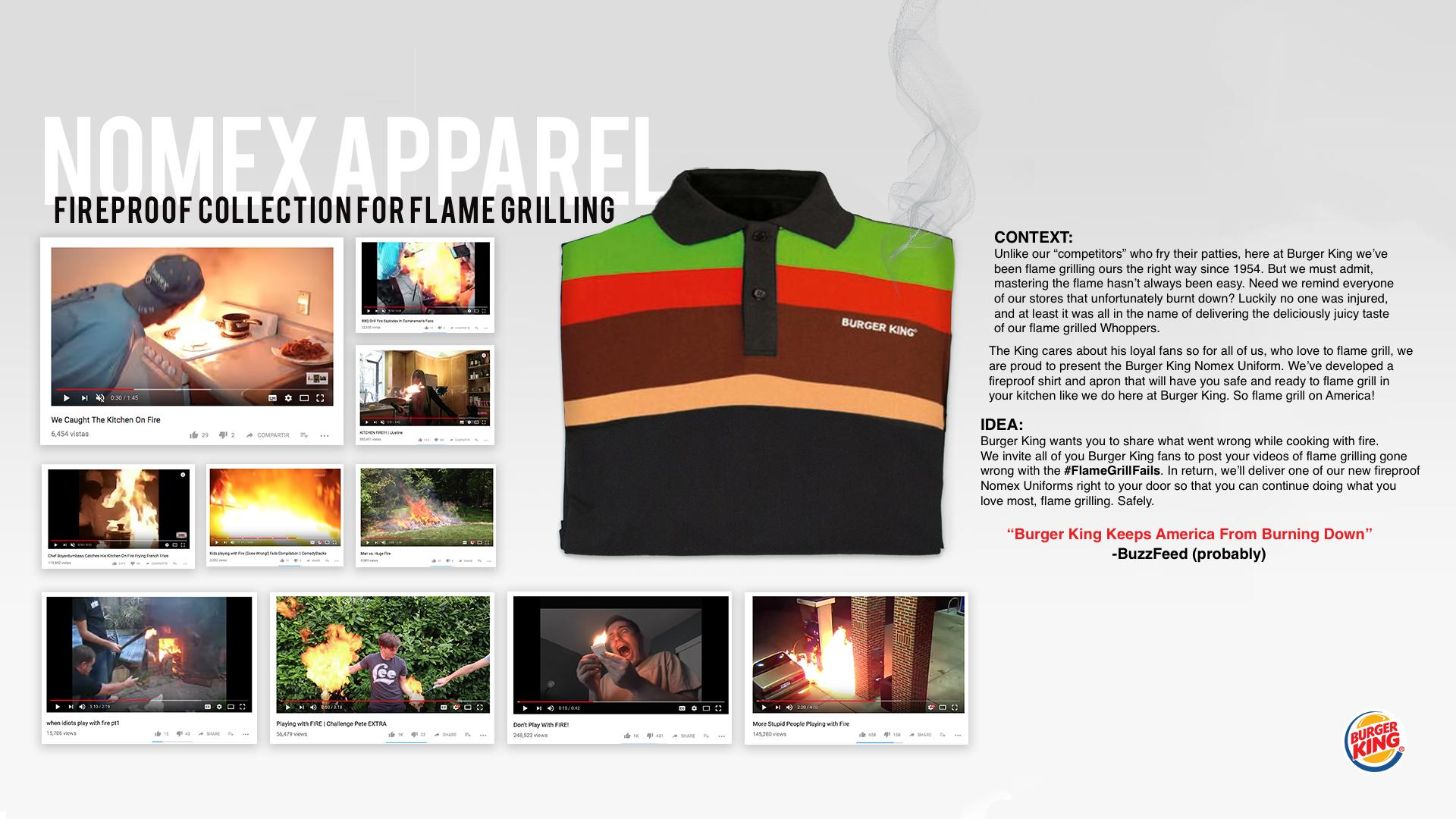 Burger King Digital Ad - Nomex Uniforms Promo
