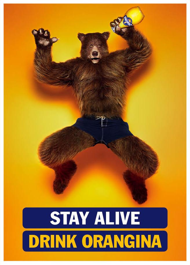 Orangina Print Ad -  Stay Alive, Bear