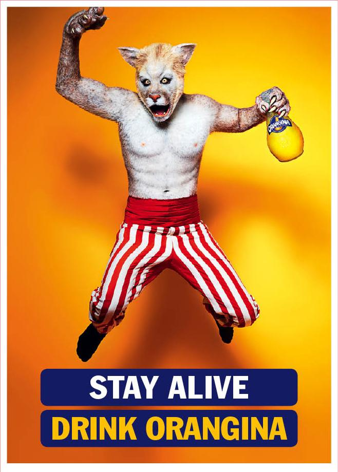 Orangina Print Ad -  Stay Alive, Wolf