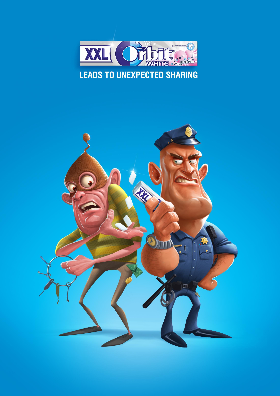 Orbit Print Ad - Unexpected Sharing - Cop