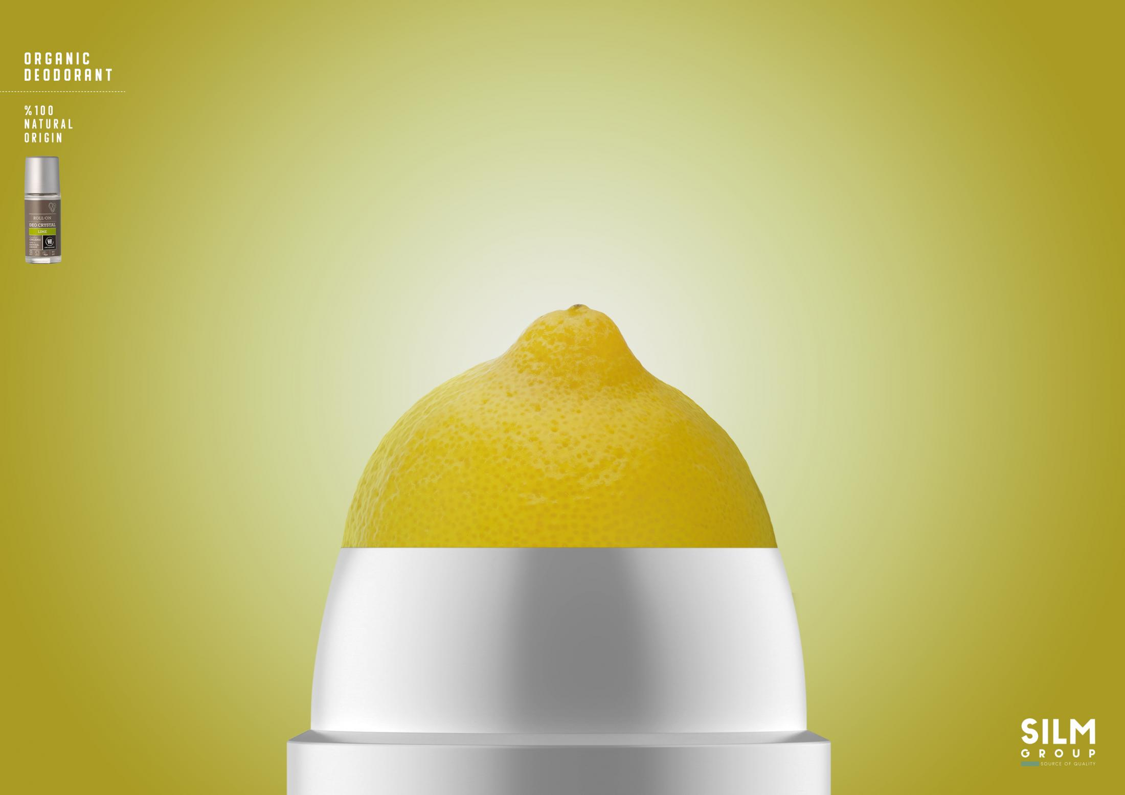 Silm Group Print Ad - Organic Deodorant - Lime