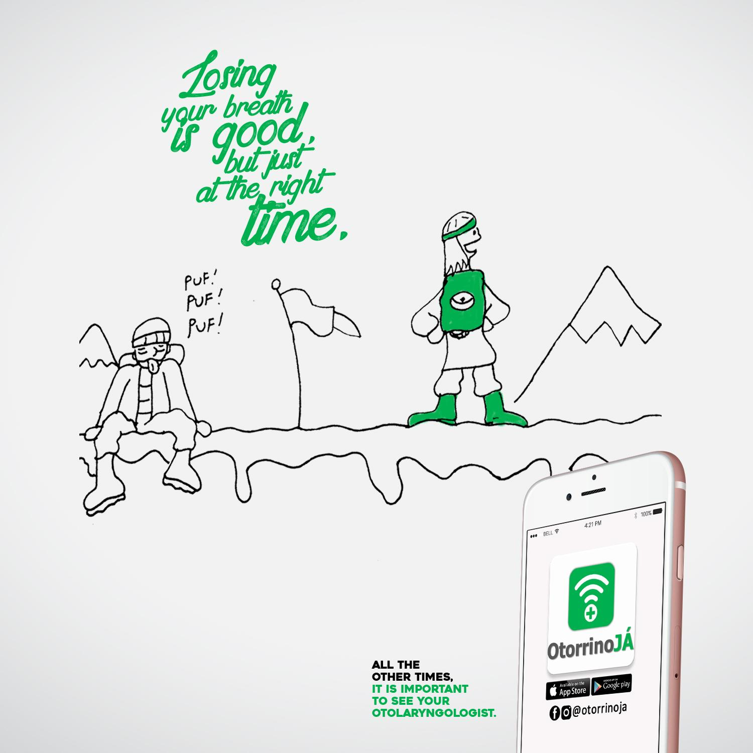 Otorrino Já Print Ad - We Never Know When a Fit May Happen, 2