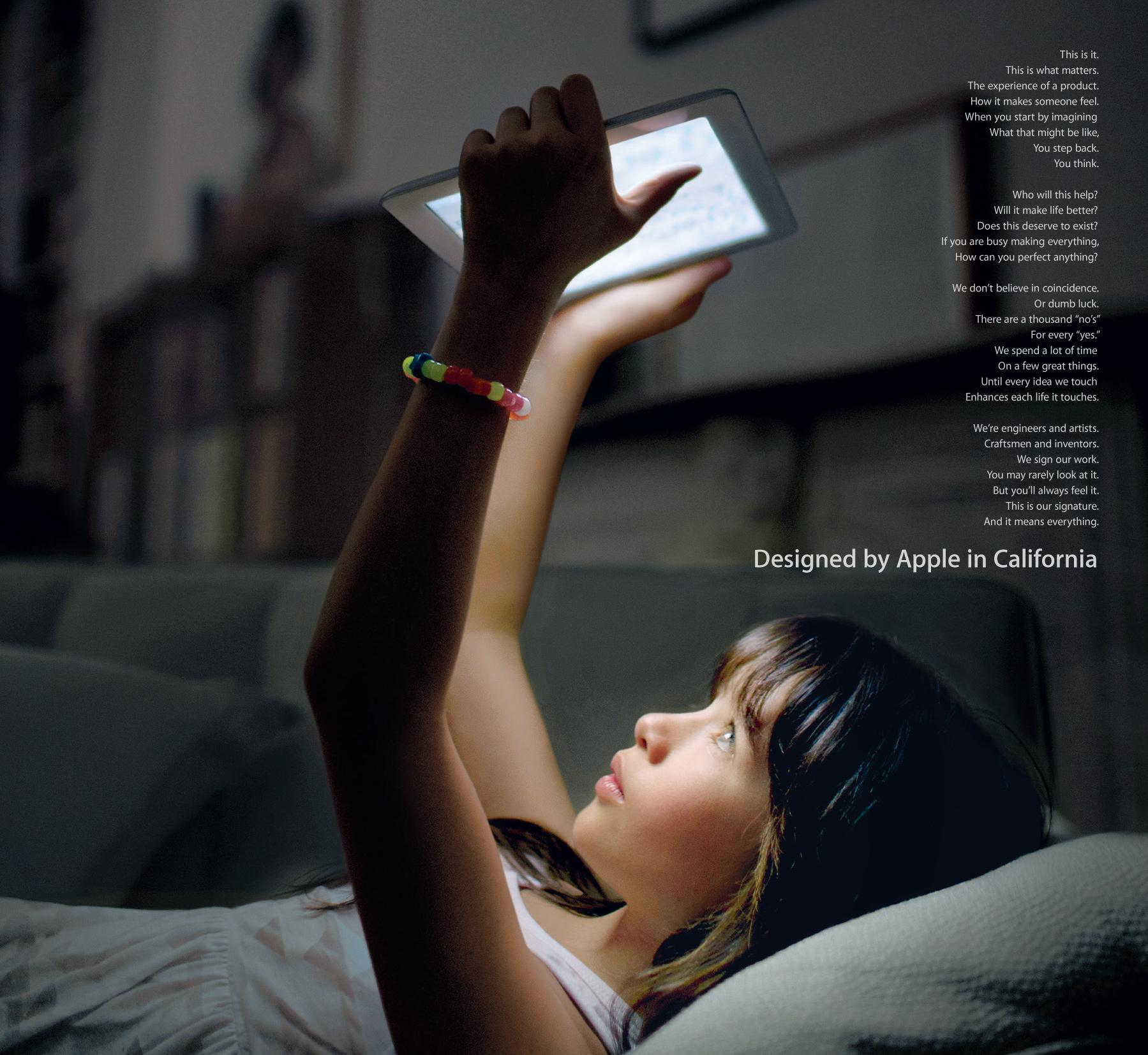 Apple Print Ad -  Our Signature, 4