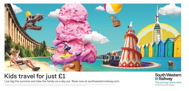 South Western Railway Print Ad - Live Big