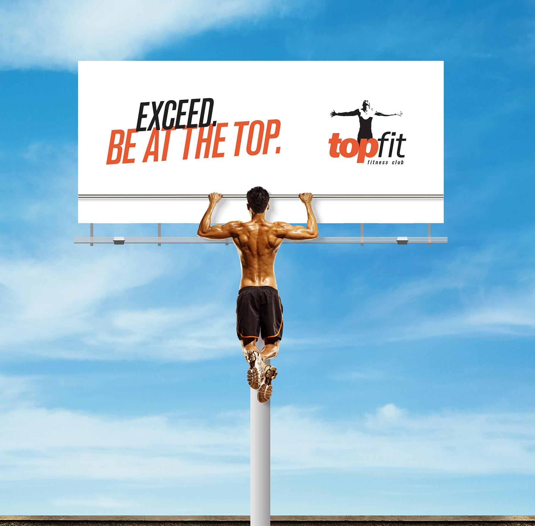 Topfit Fitness Club Outdoor Ad -  Pull-up