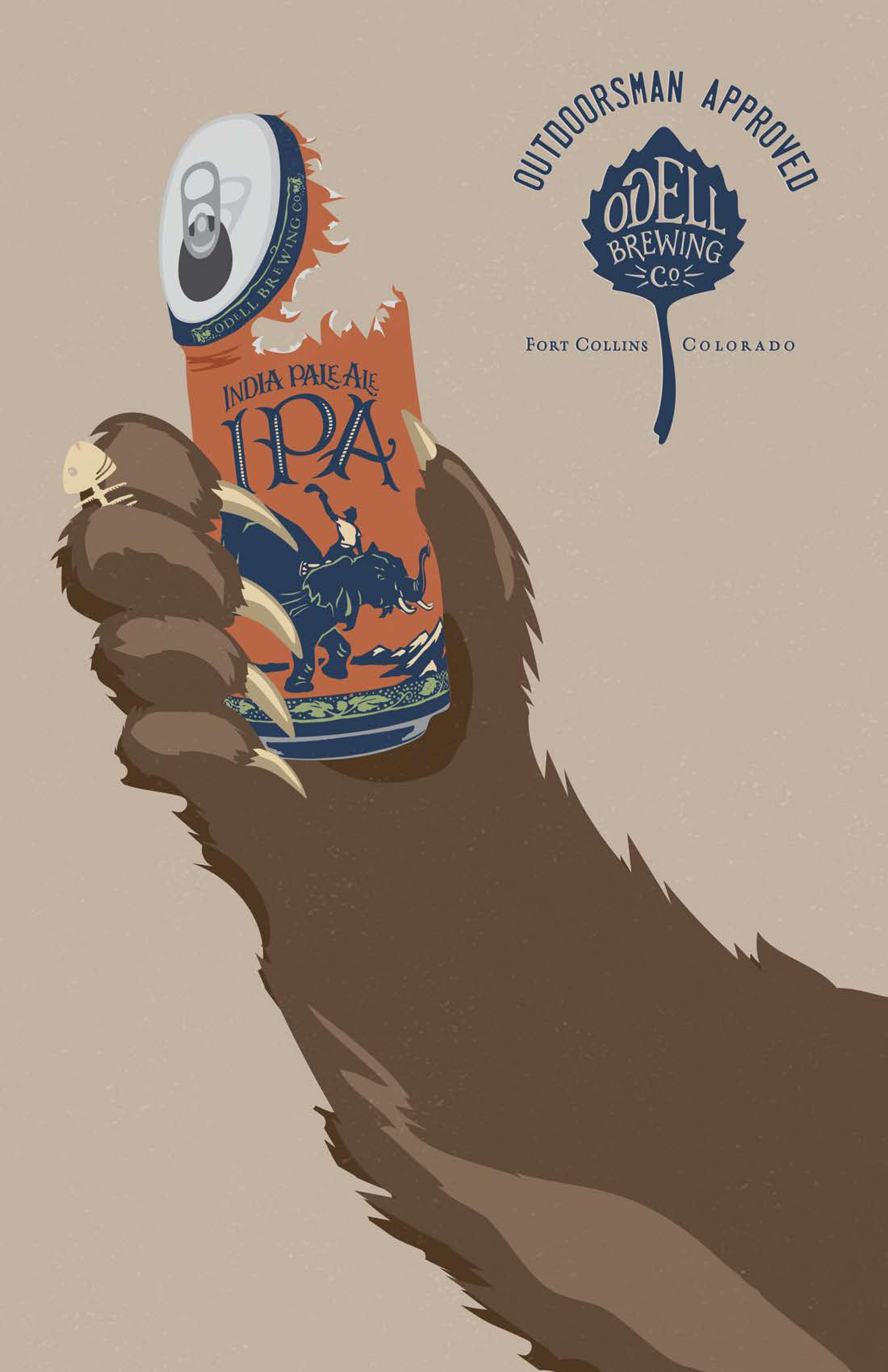 Odell Brewing Co Print Ad - Odell IPA Day - Outdoorsman