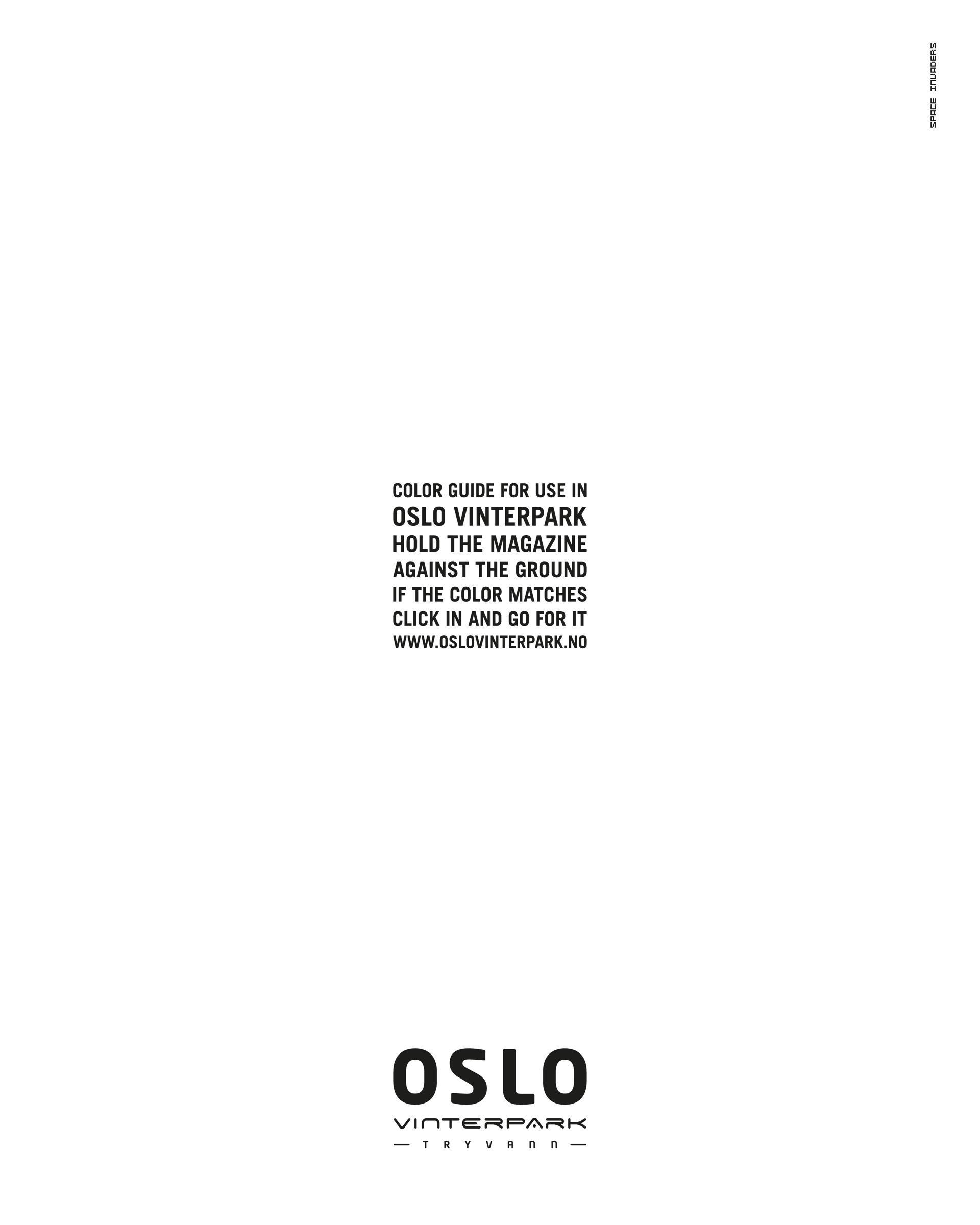 Oslo Vinterpark Print Ad -  Color Guide