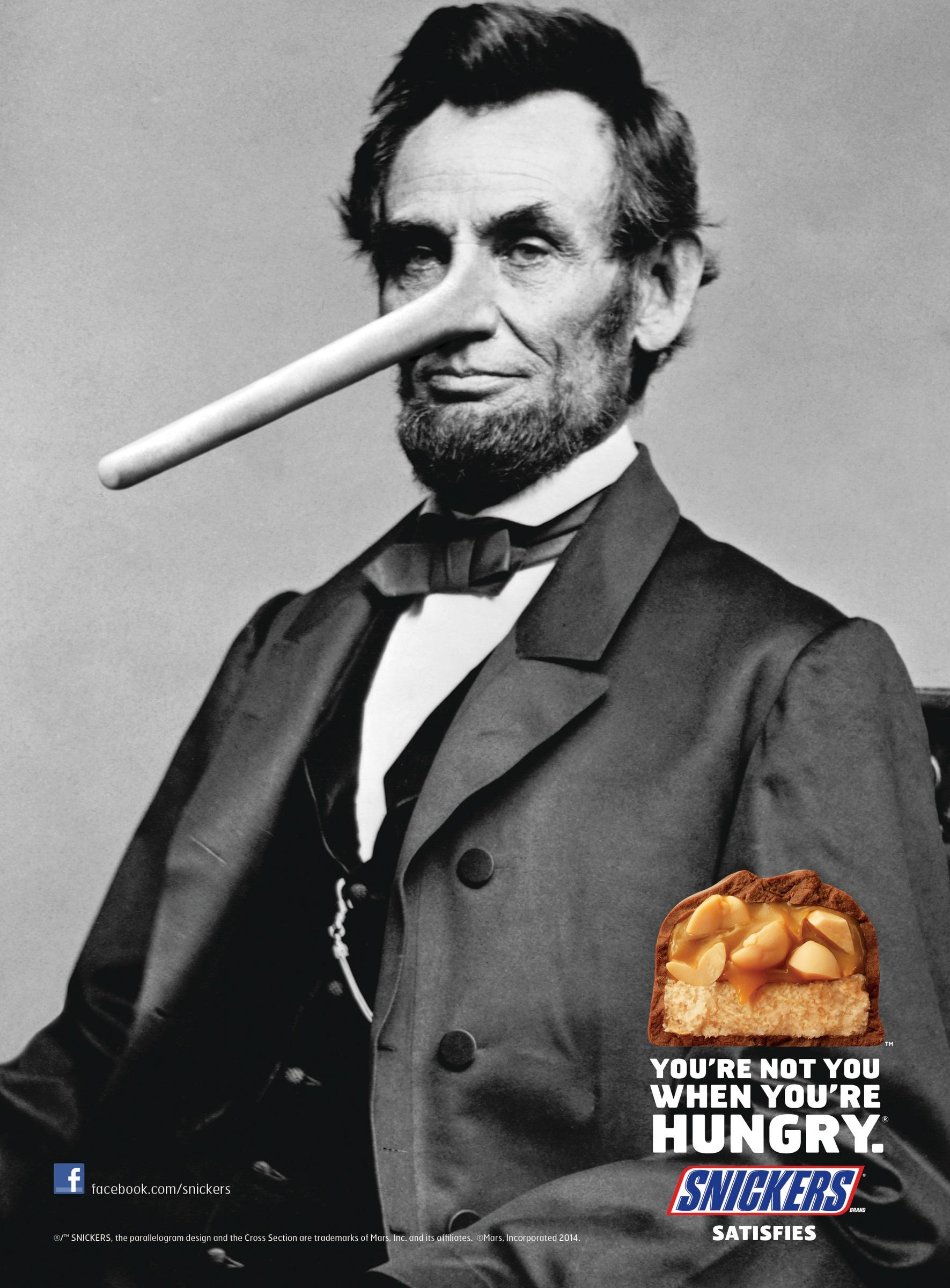 Snickers Print Ad -  Lincoln