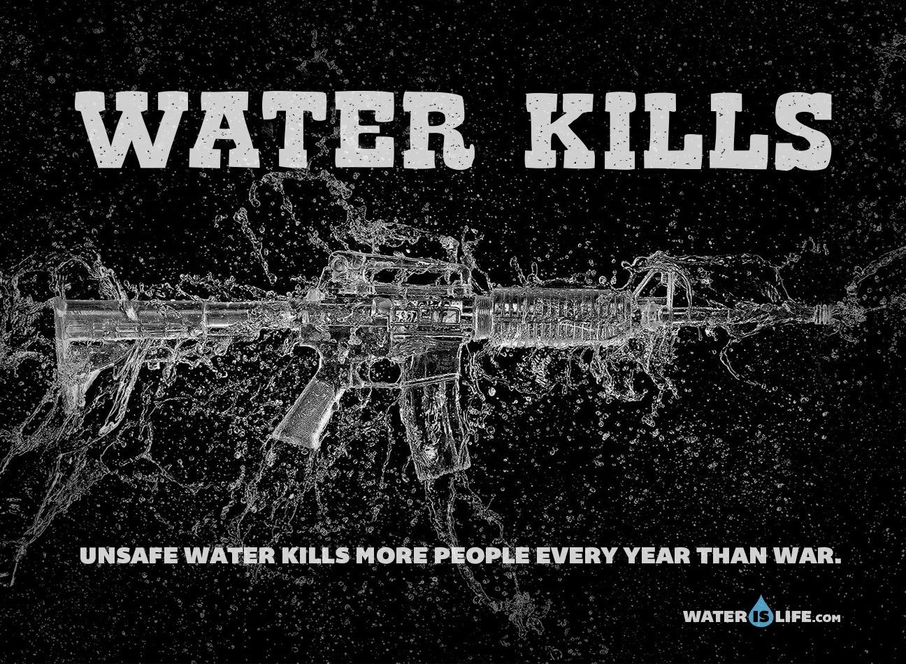 Water is Life Outdoor Ad -  Gun, 3