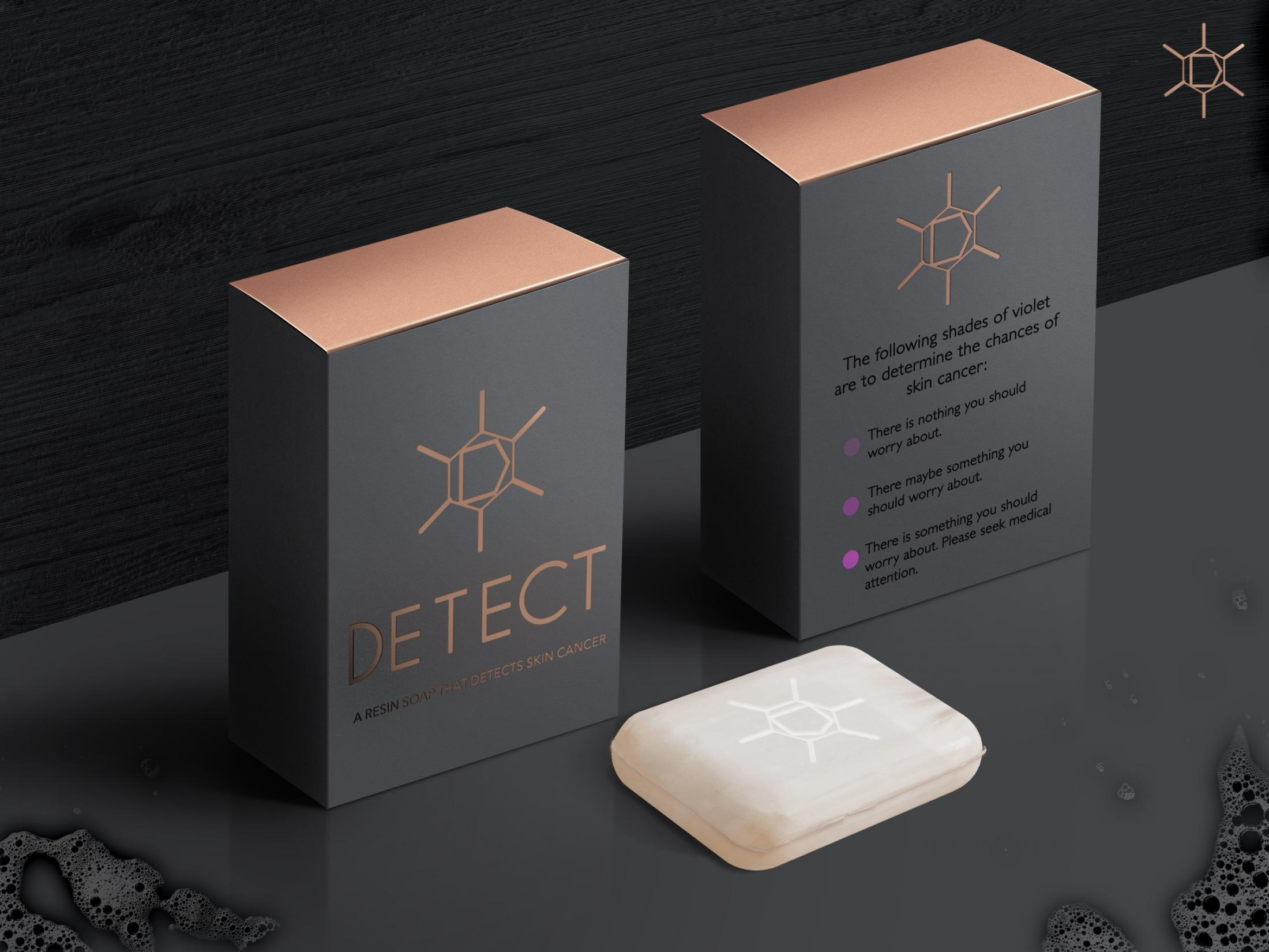 Detect Print Ad - A resin soap that detects skin cancer