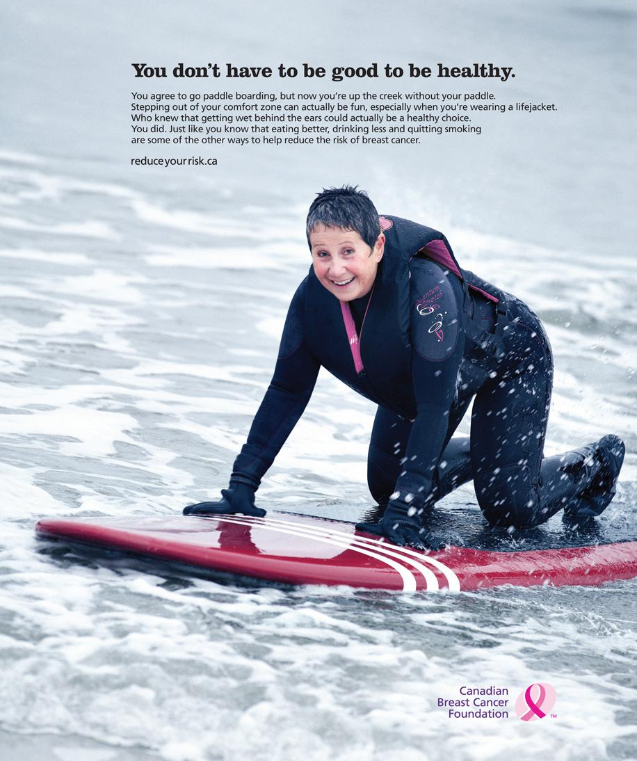 Canadian Breast Cancer Foundation Print Ad -  Paddle