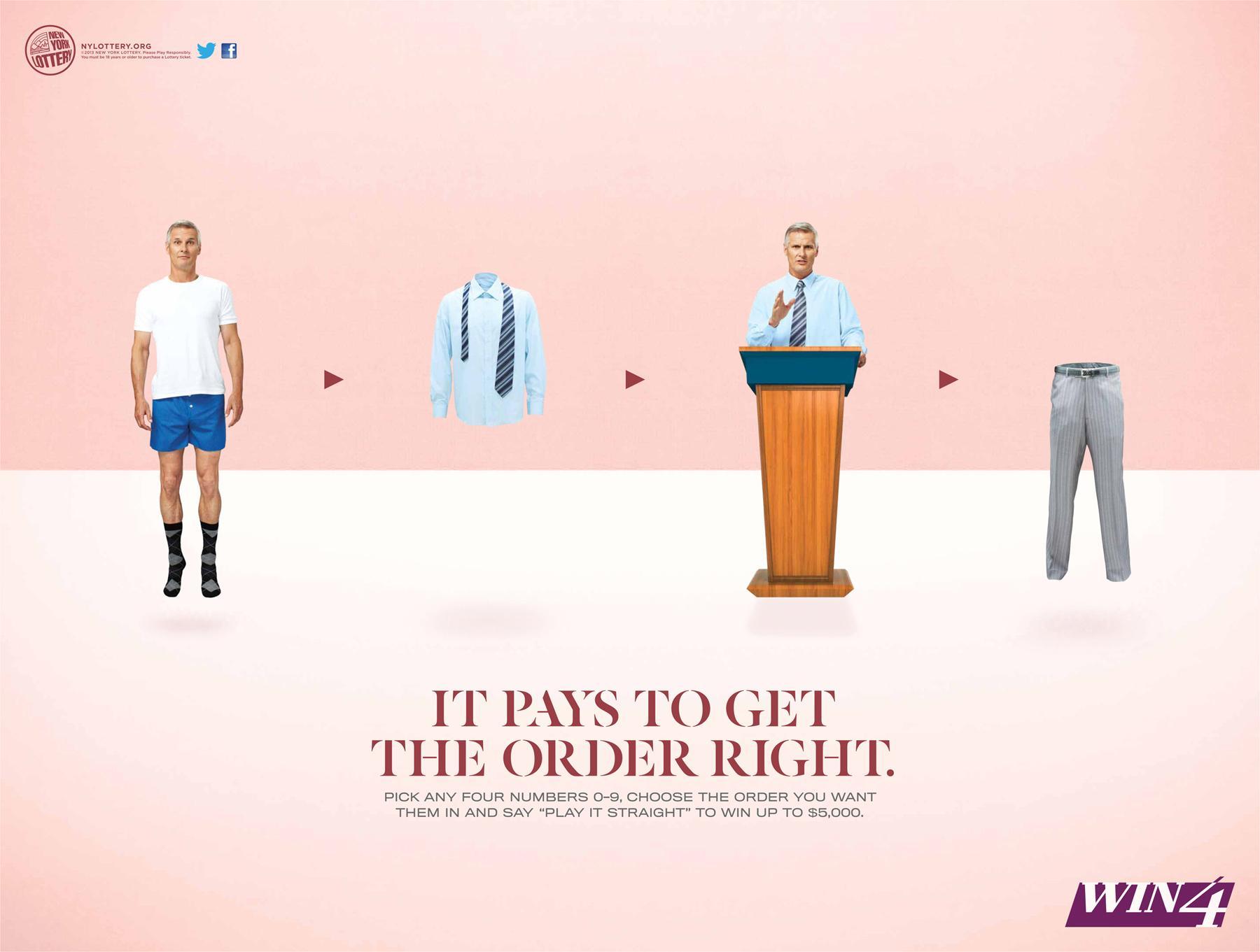 New York Lottery Print Ad -  Pants