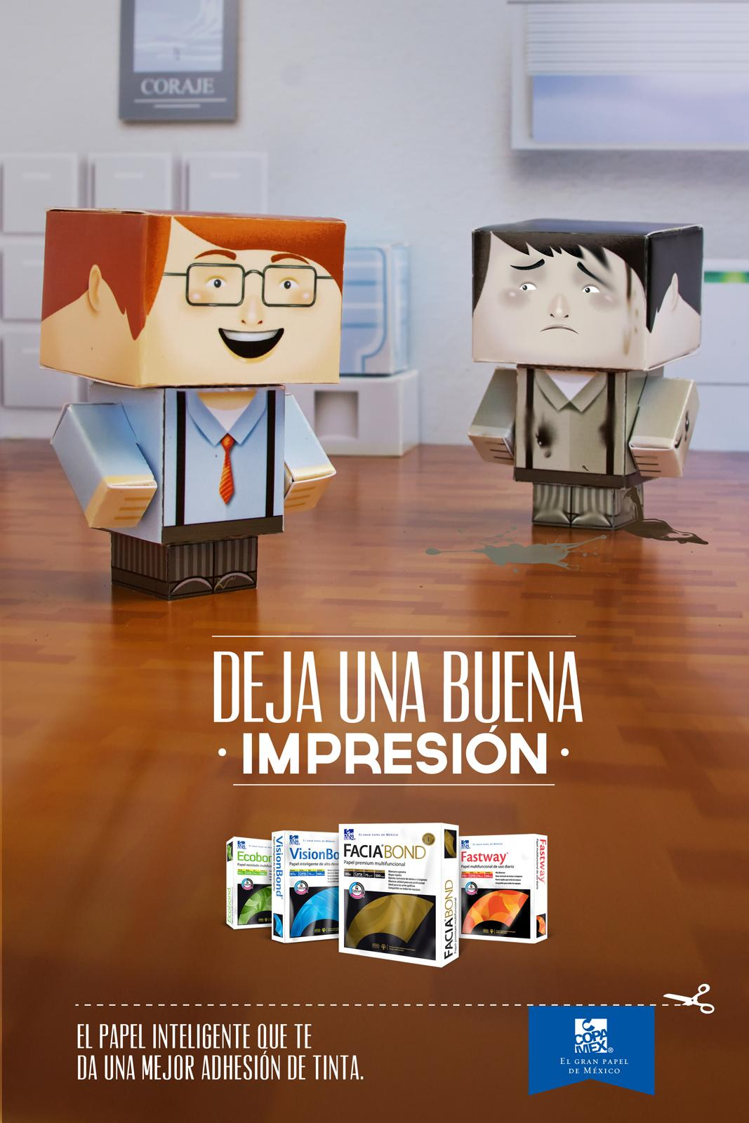 Copamex Print Ad -  Paper Toys, Office