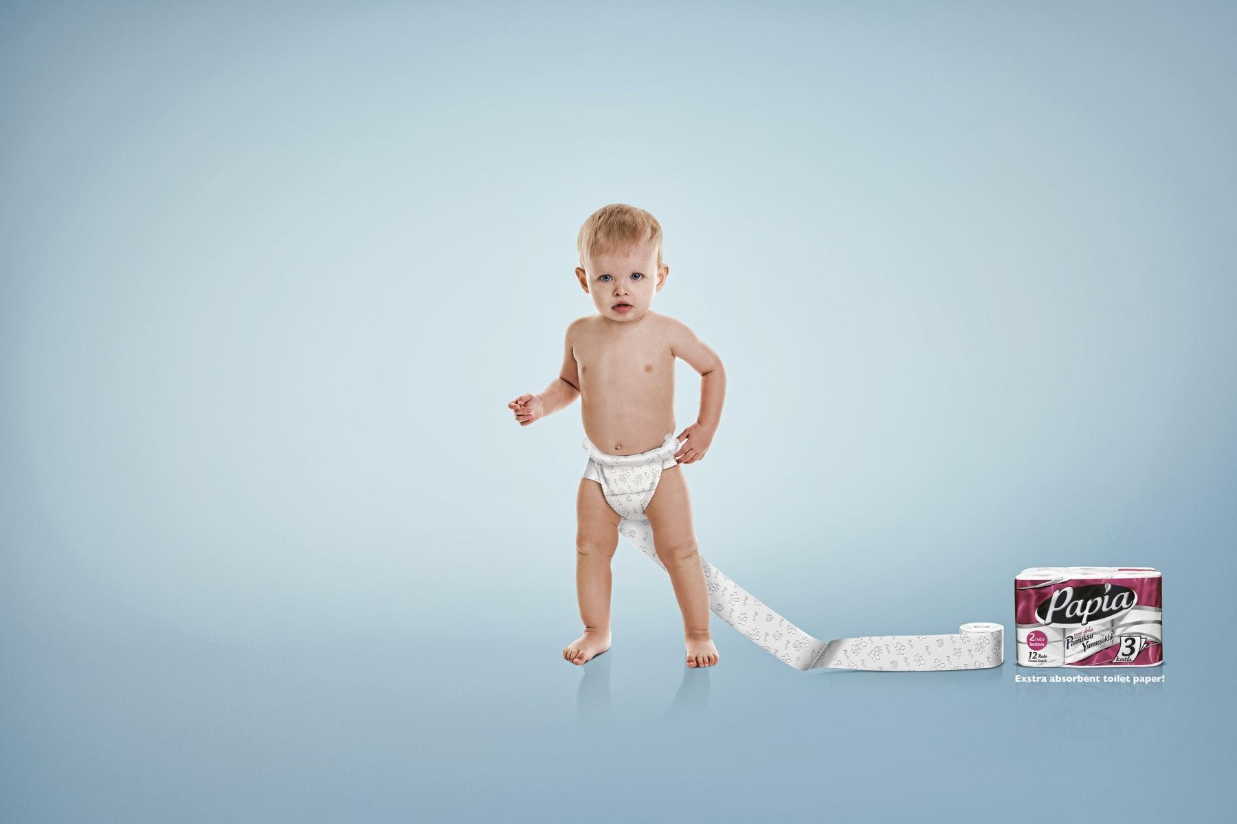 Papia Print Ad -  Diaper