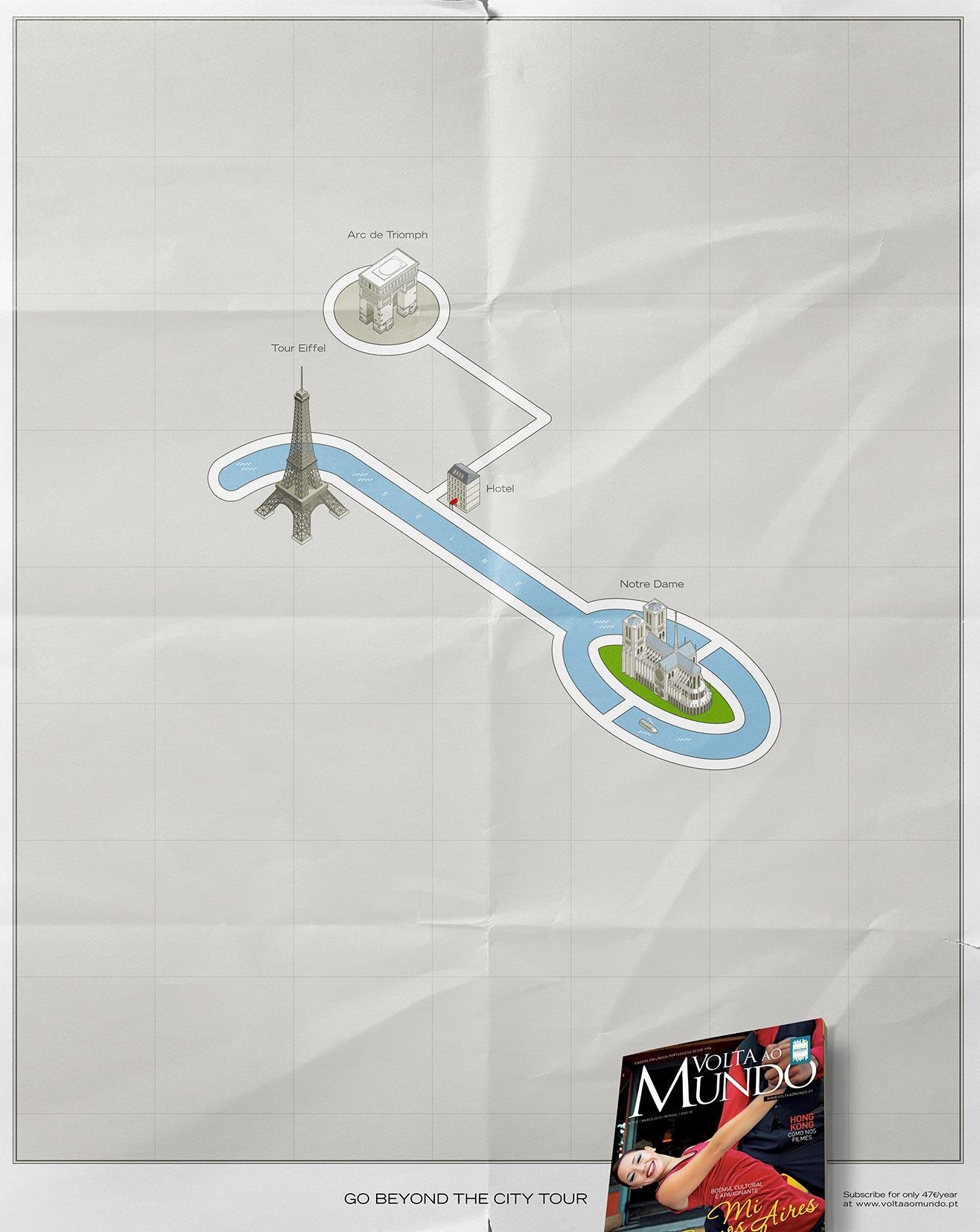Volta Ao Mundo Print Ad -  Paris