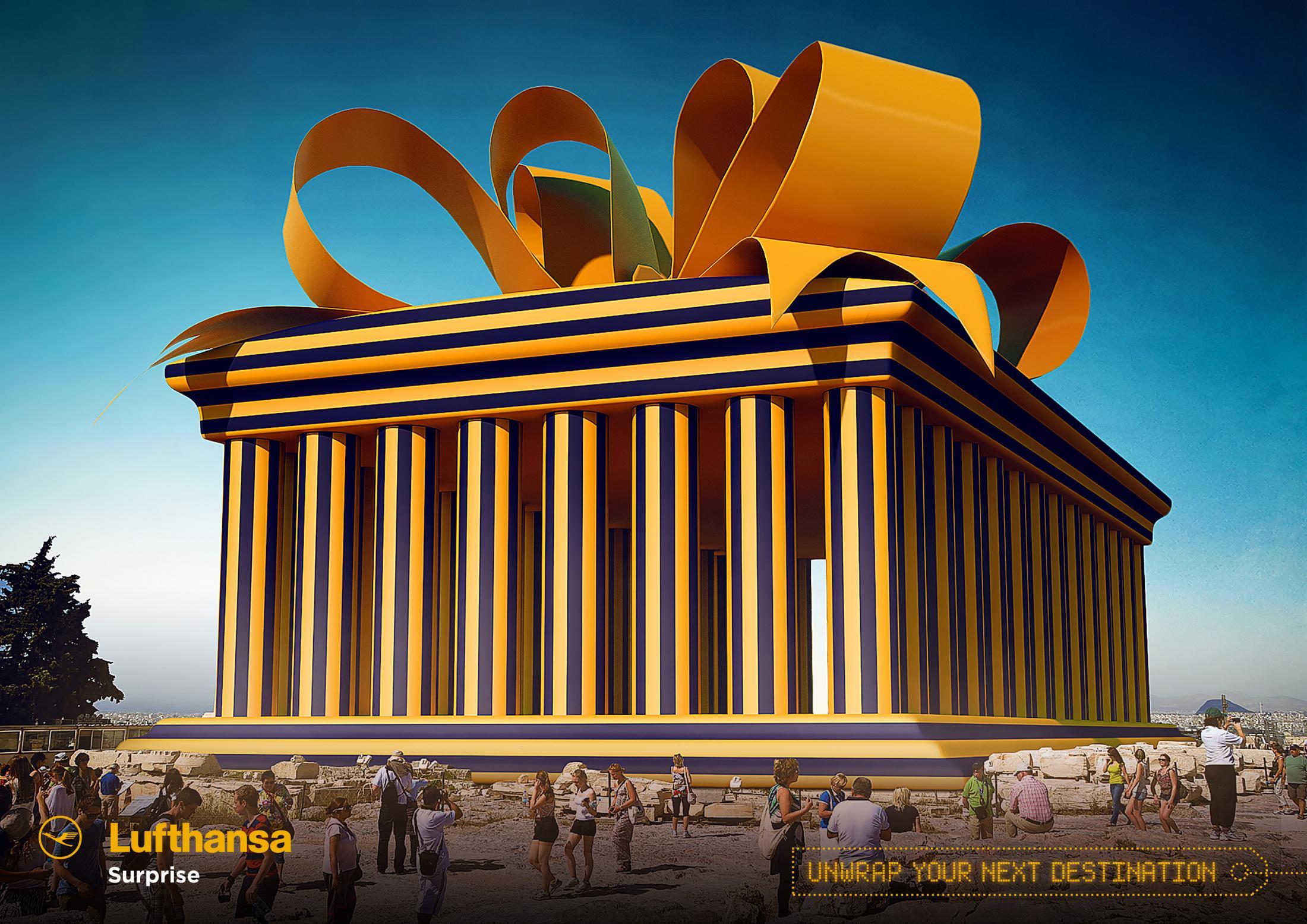 Lufthansa Print Ad - Parthenon