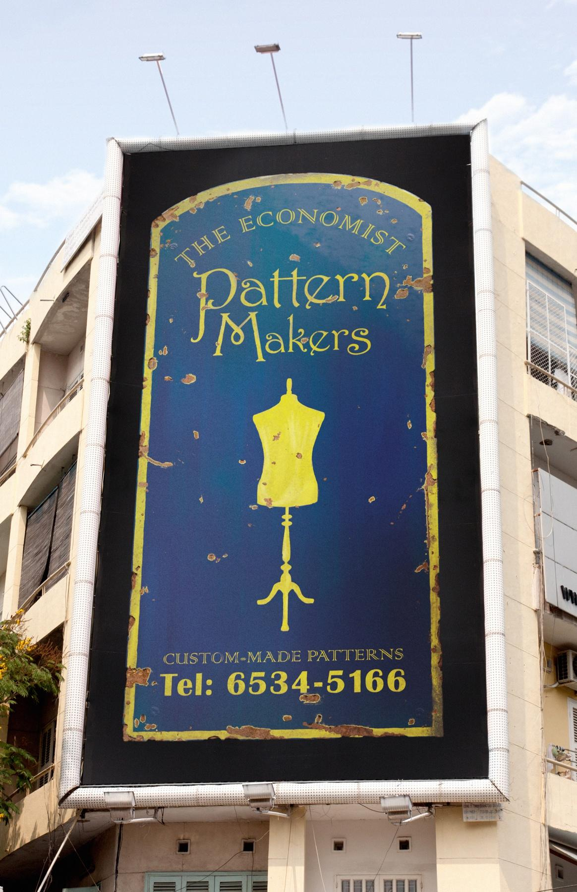 The Economist Outdoor Ad -  Signs, Pattern Makers