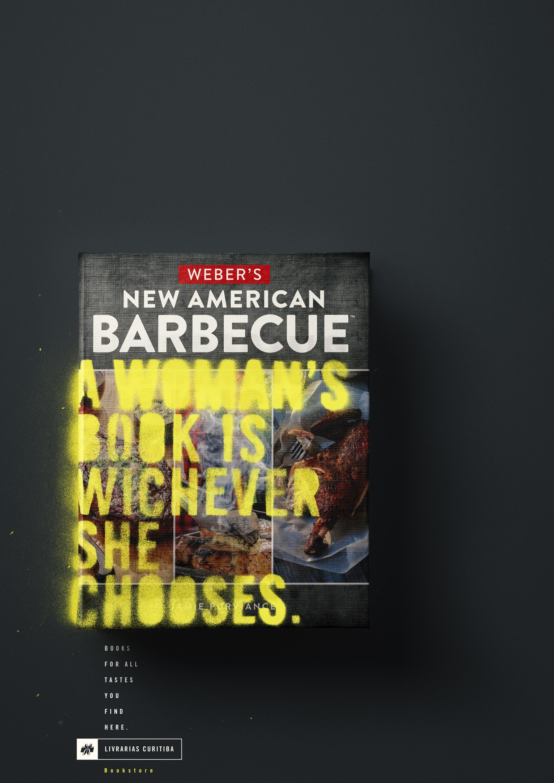 Livrarias Curitiba Print Ad - Barbecue book