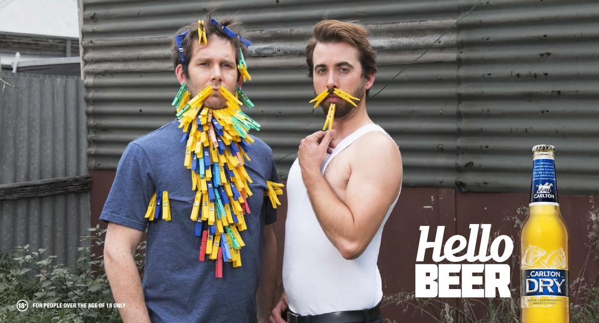 Carlton Dry Outdoor Ad -  Peg Beard, 1