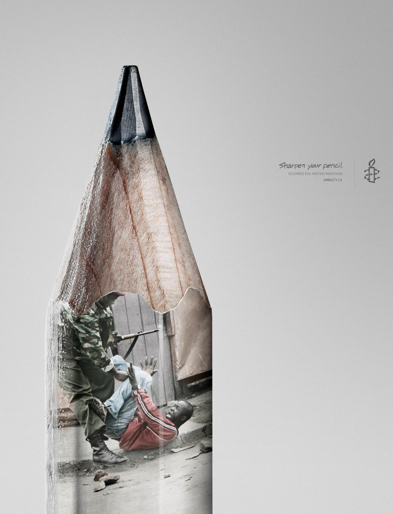 Amnesty International Print Ad -  Pencil, 1