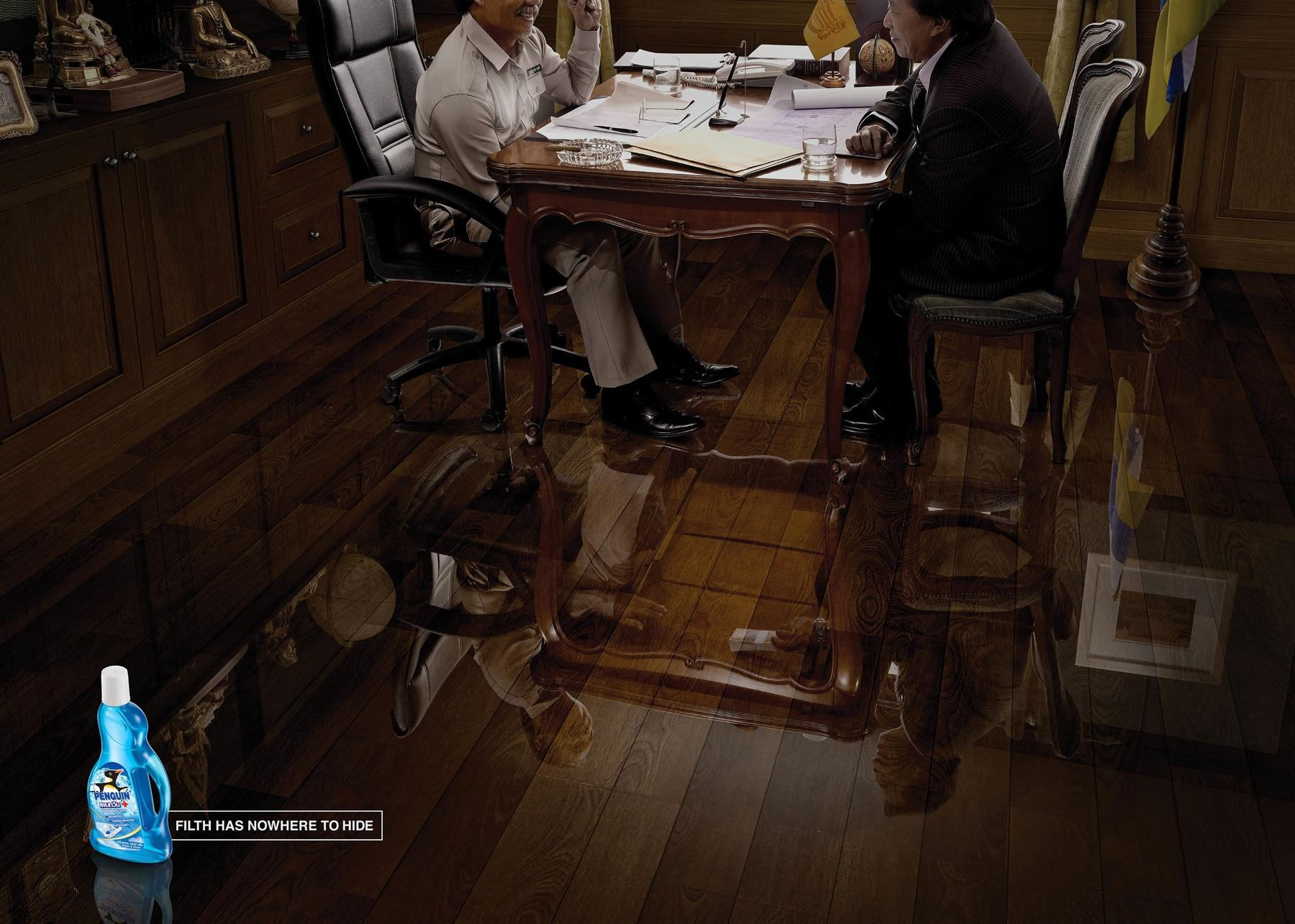 Penguin Multi Surface Floor Cleaner Print Ad -  Bribe