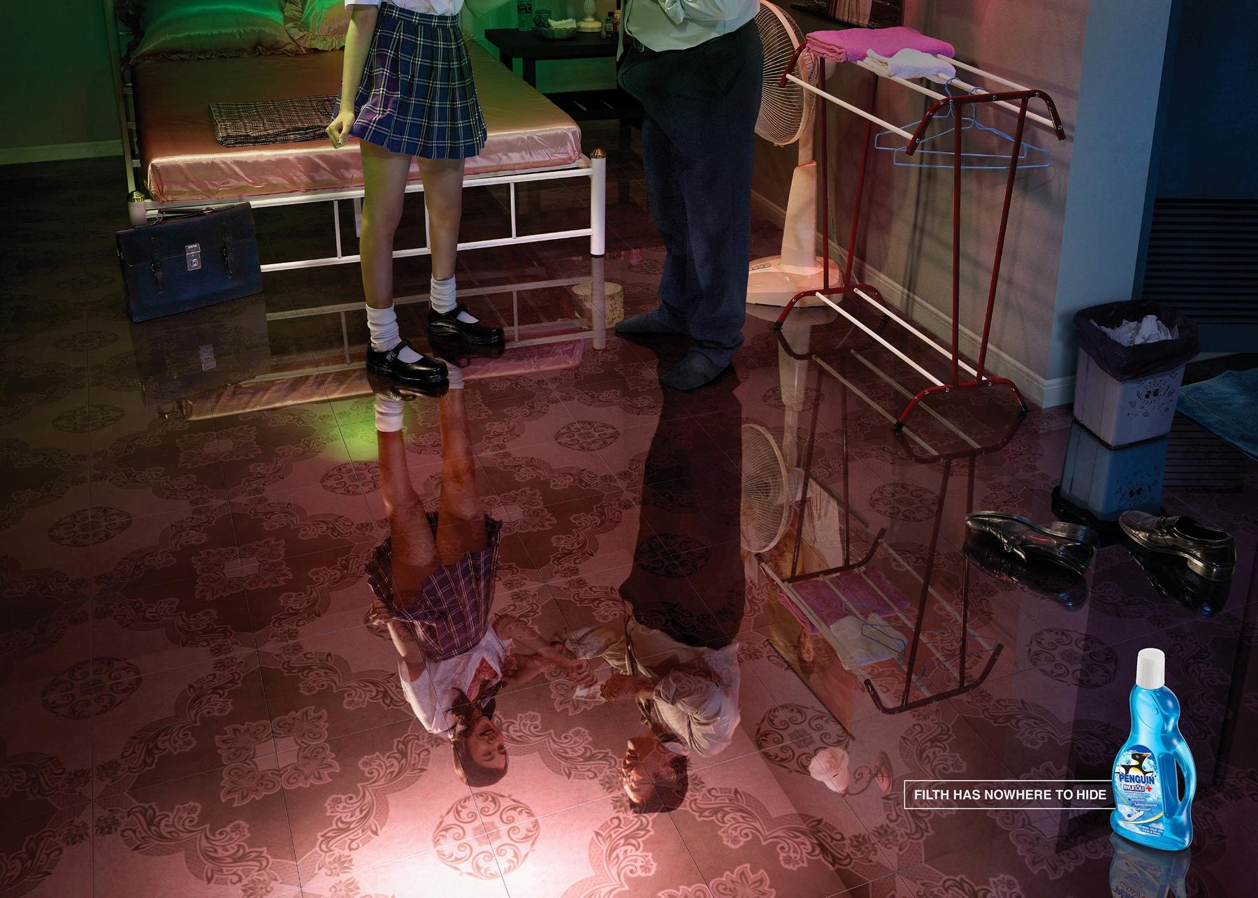 Penguin Multi Surface Floor Cleaner Print Ad -  Soliciting