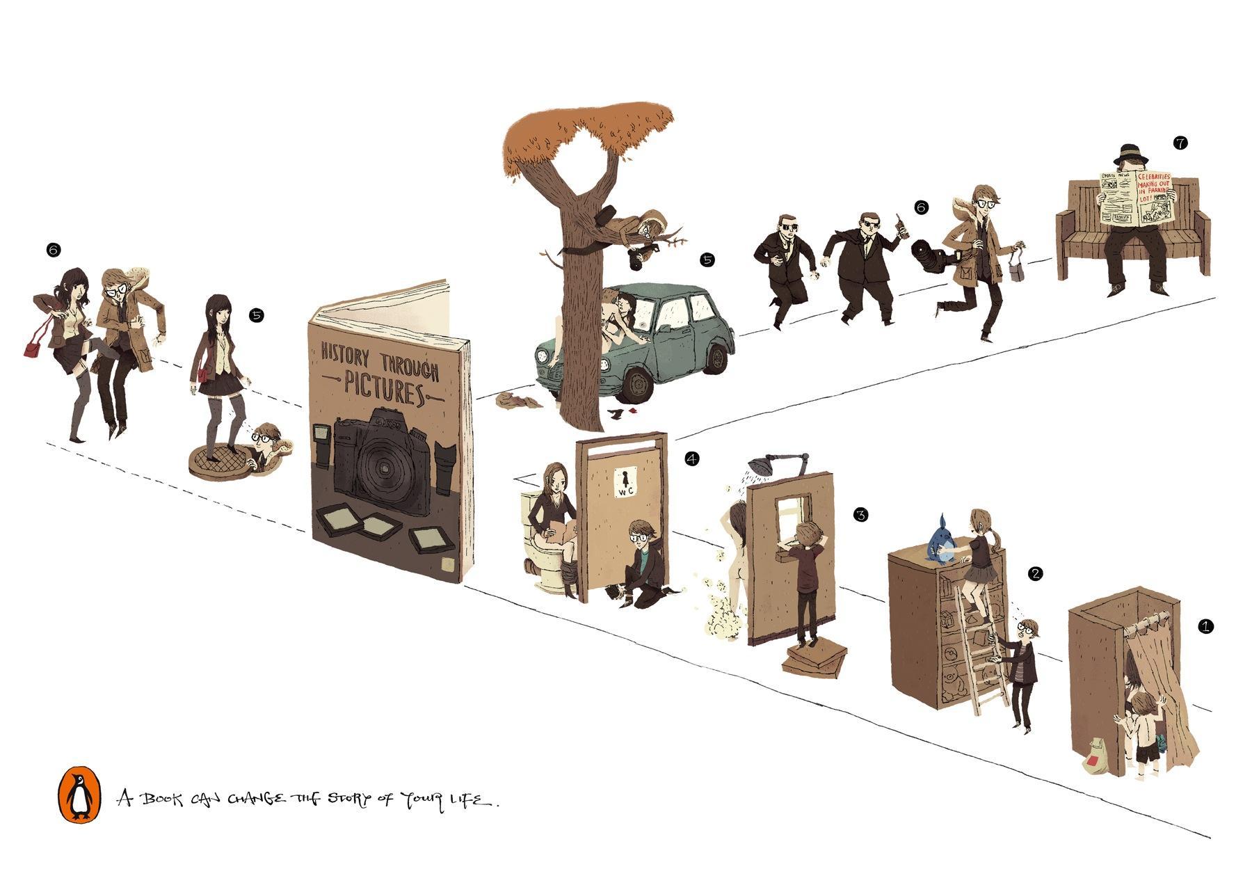 Penguin Print Ad -  Change Direction, 1