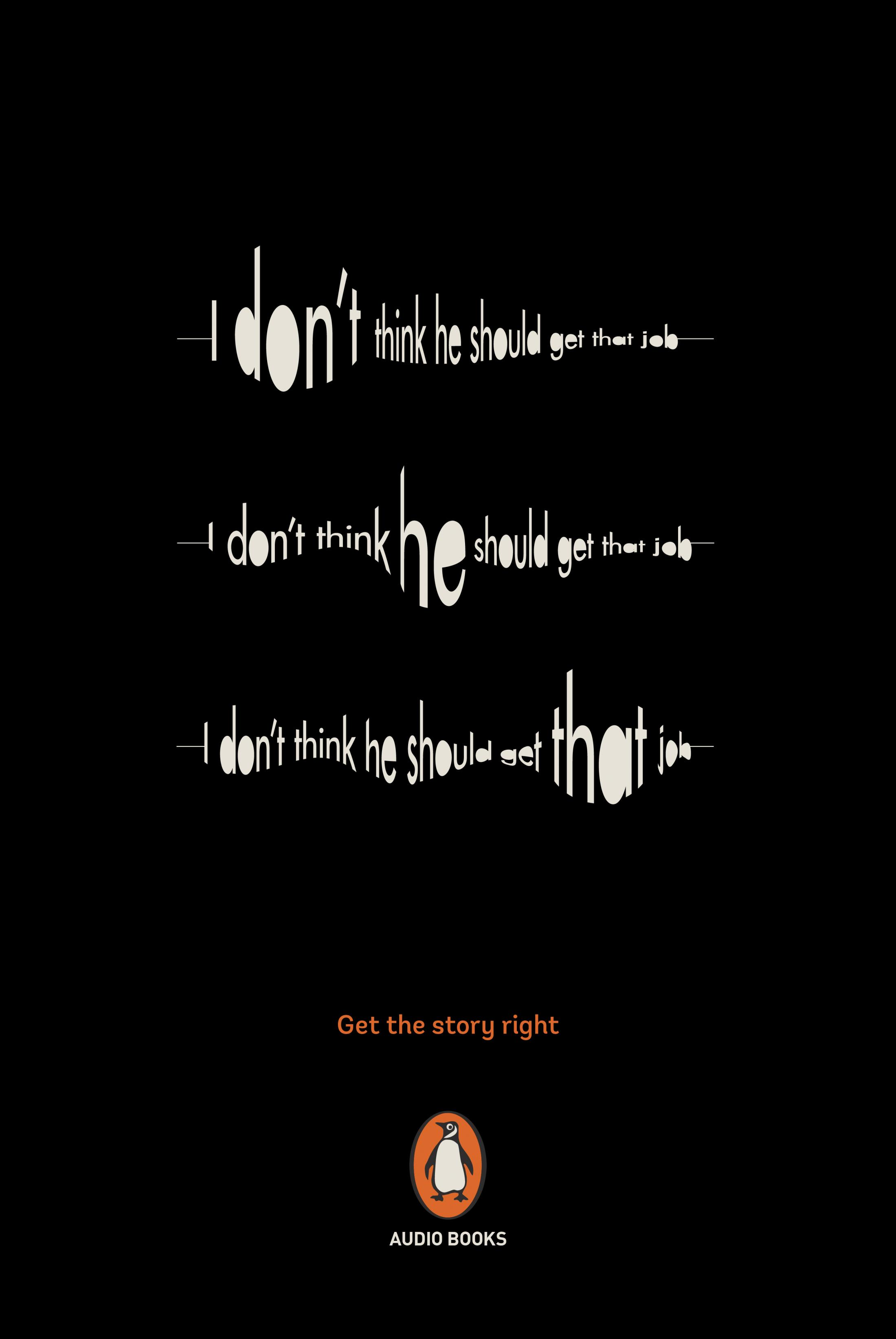 Penguin Print Ad - Get the Story Right, 3