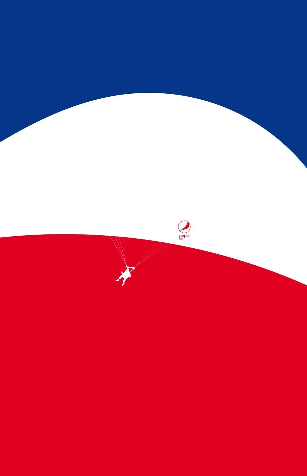 Pepsi Print Ad - Feel Light - Parachute