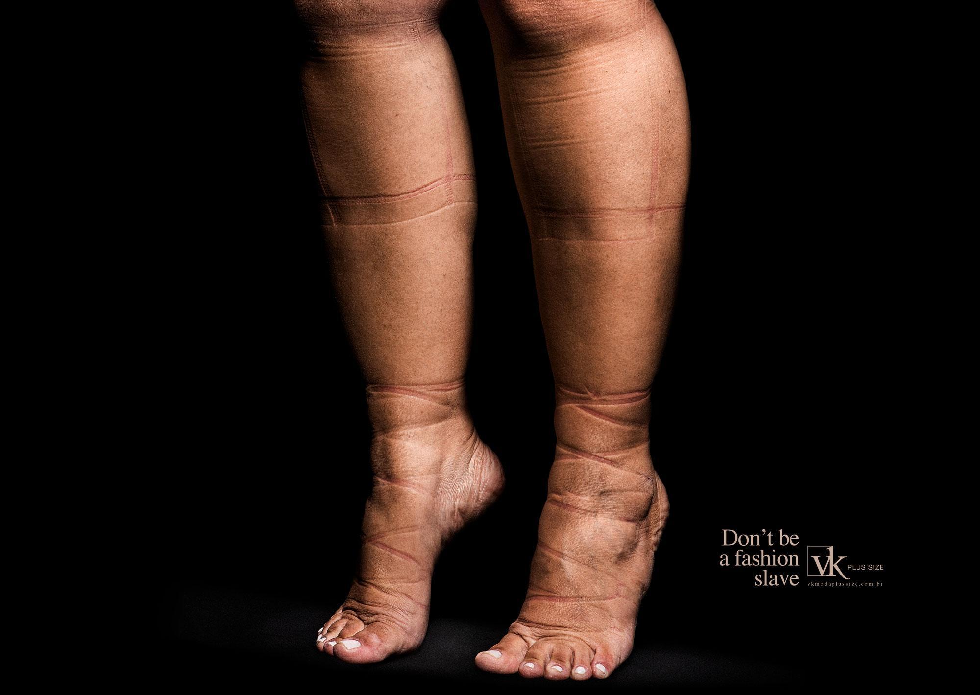 VK Moda Plus Size Print Ad - Feet