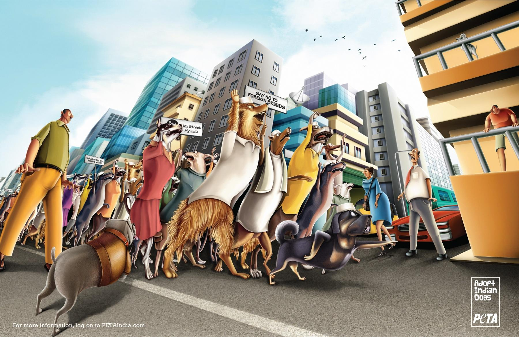 PETA Print Ad -  Dogs of the Soil March