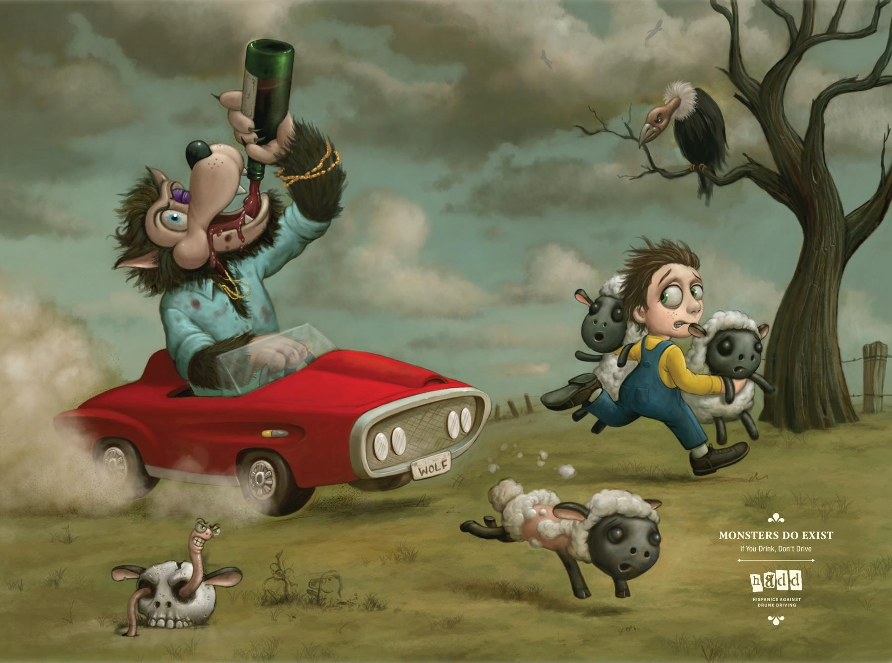 HADD Print Ad -  Peter and the Wolf
