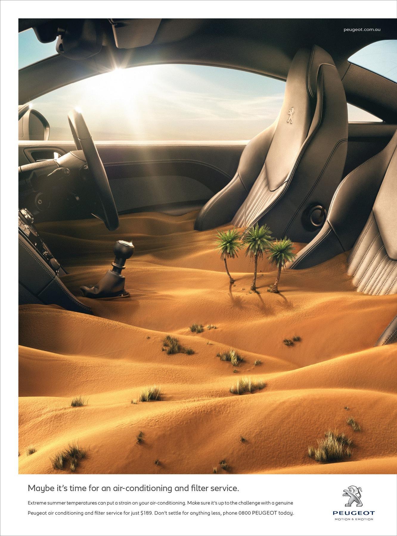 Peugeot Print Ad -  Desert