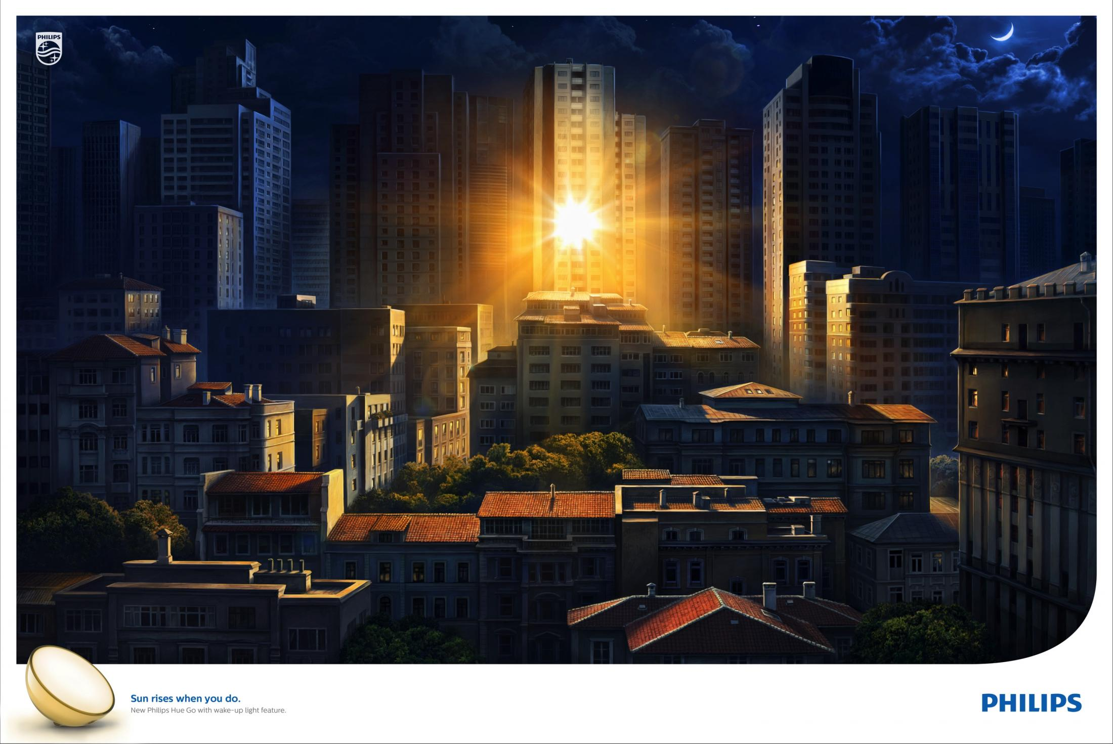 Philips Print Ad - Sunrise at night