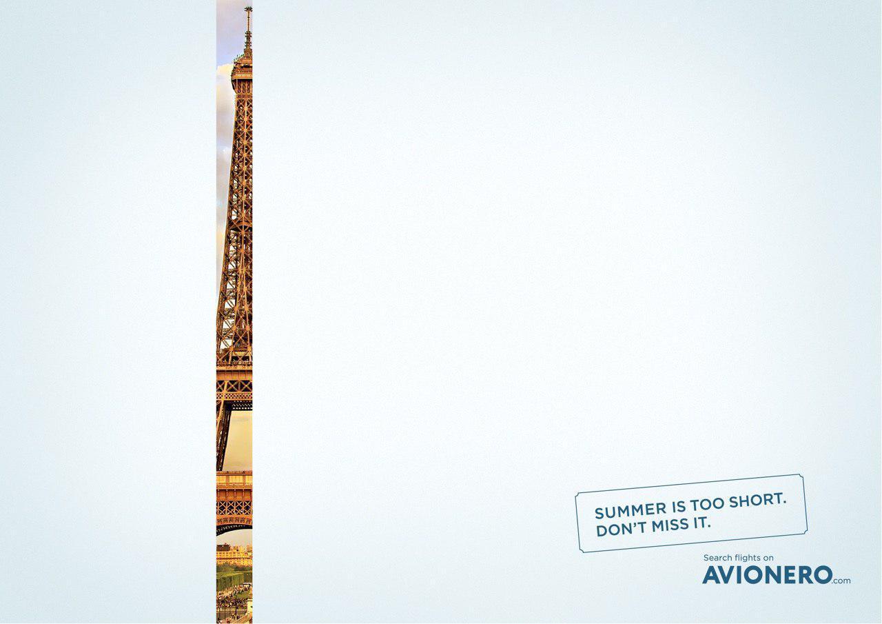 Avionero Print Ad - Summer is too short, 2