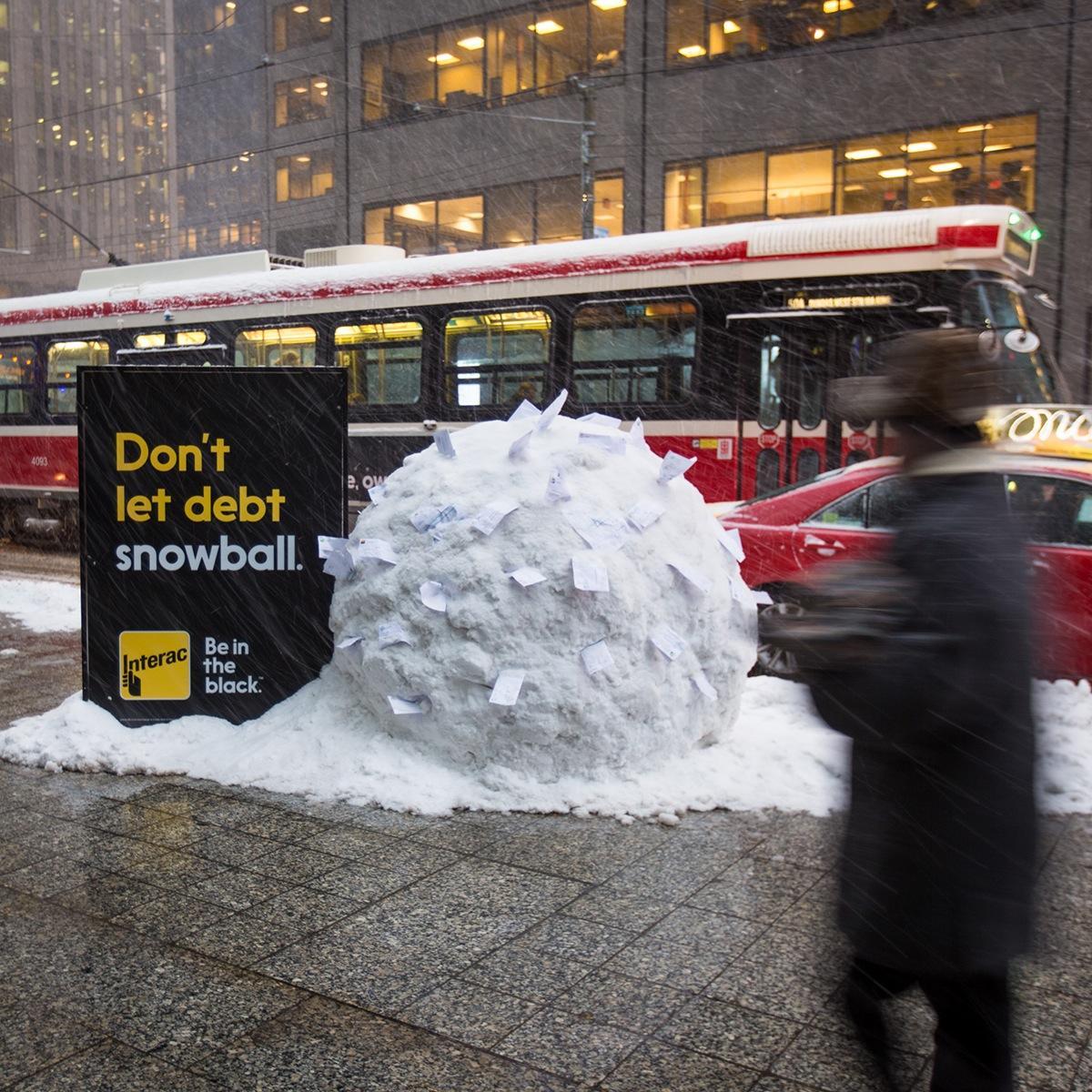 Interac Outdoor Ad -  Snowball