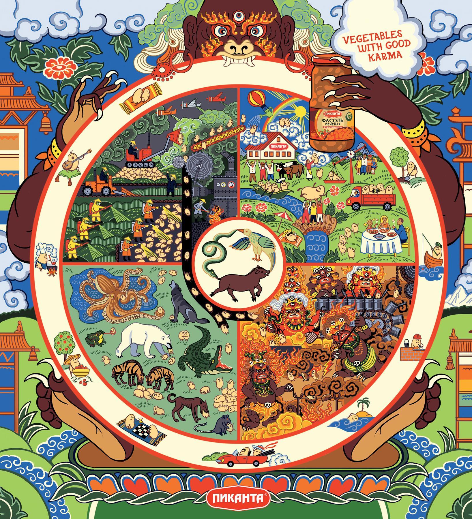 Picanta Print Ad -  Wheel of Sansara