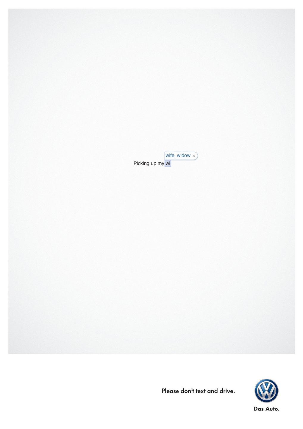Volkswagen Outdoor Ad -  Wife